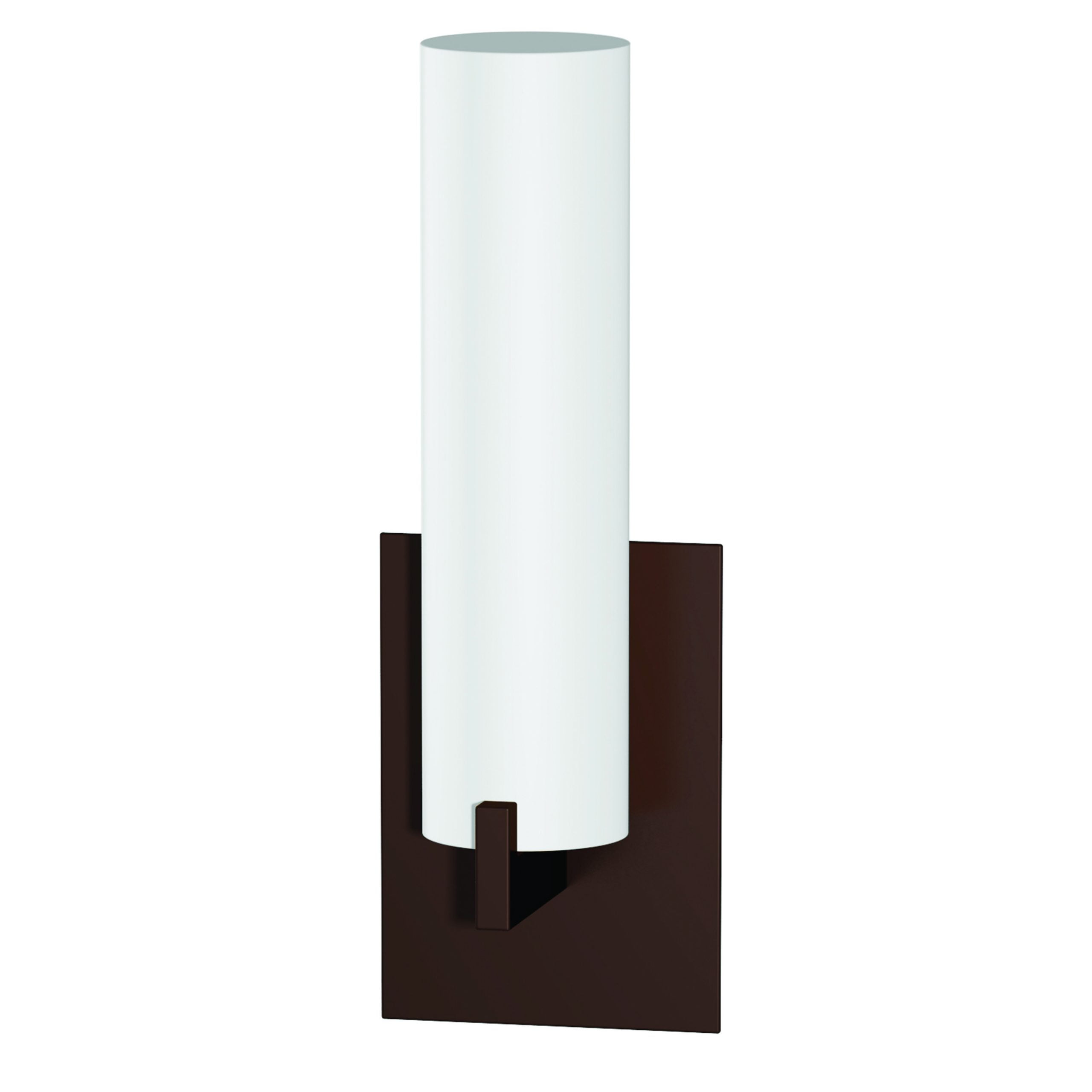 "14""H Dark Bronze Wall Sconce with Frosted Glass Shade"