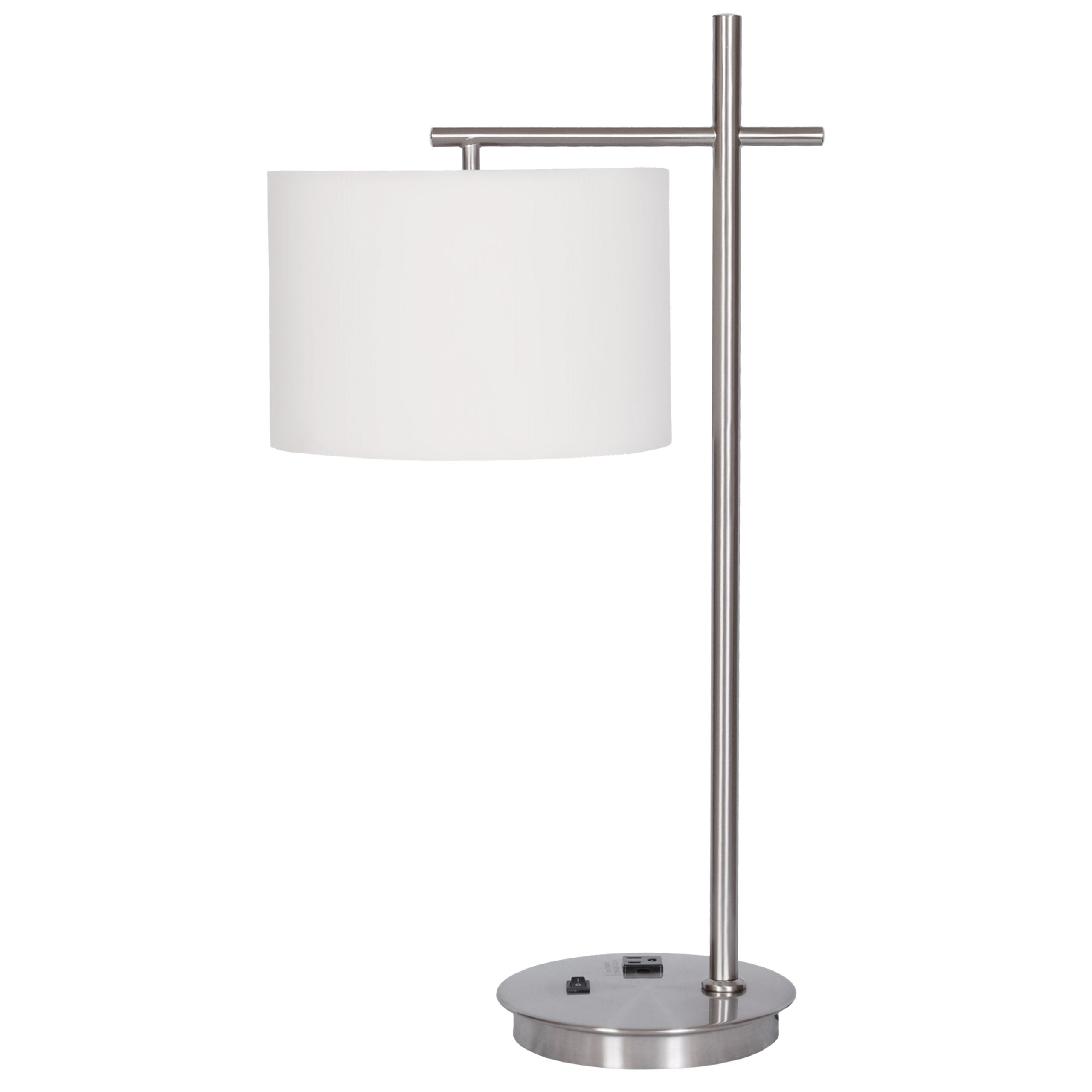 Single Table Lamp with 1 Outlet