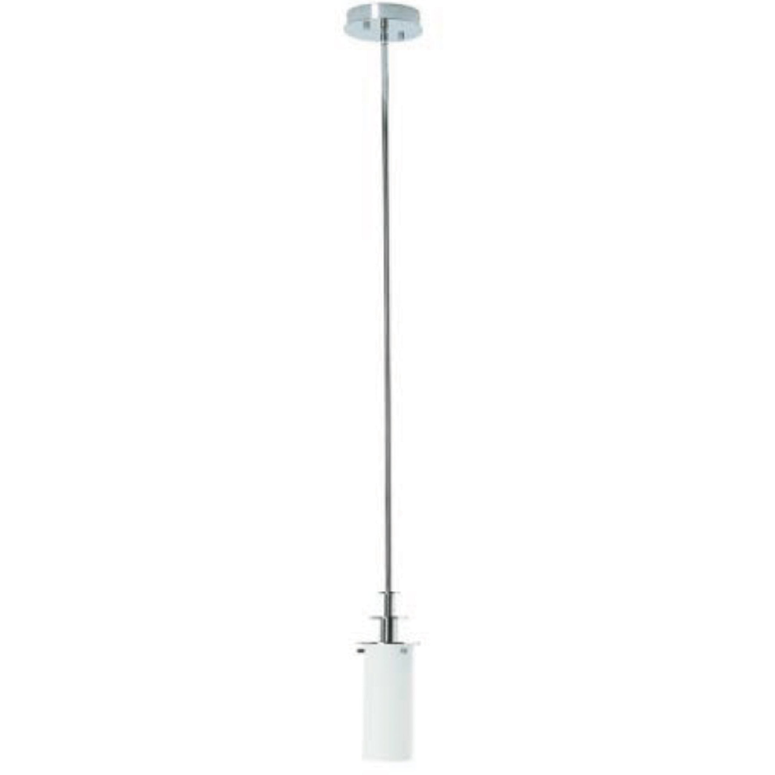 "5"" Diameter Polished Chrome Pendant with Frosted Glass Shade"