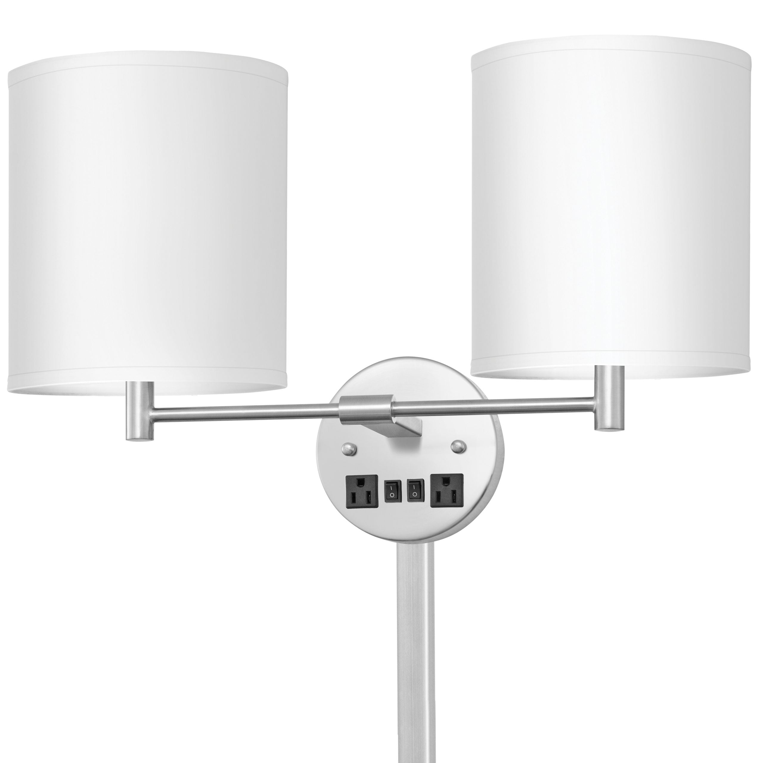 Corbel Double Wall Lamp with 2 Outlets