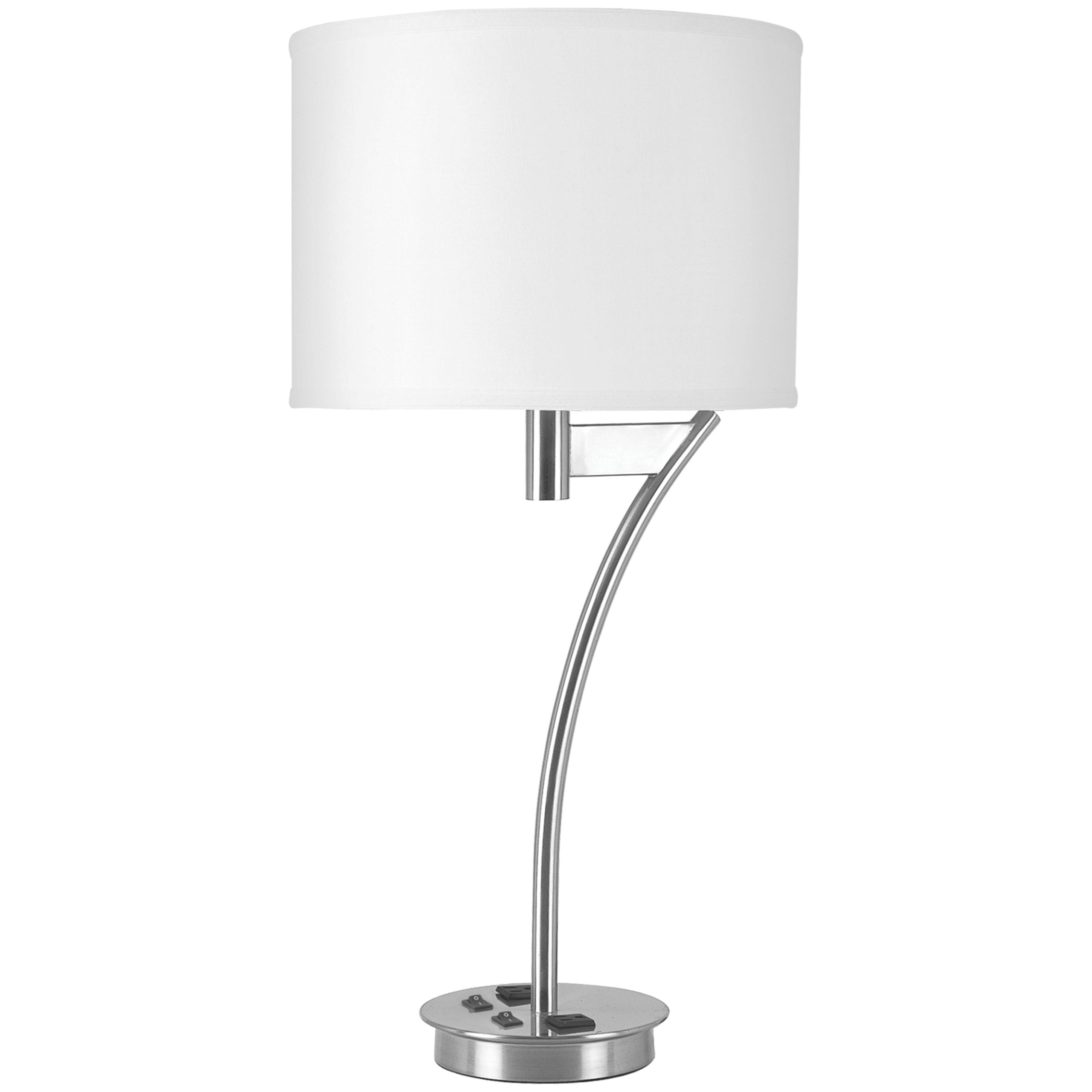 Corbel Twin Table Lamp with 2 Outlets