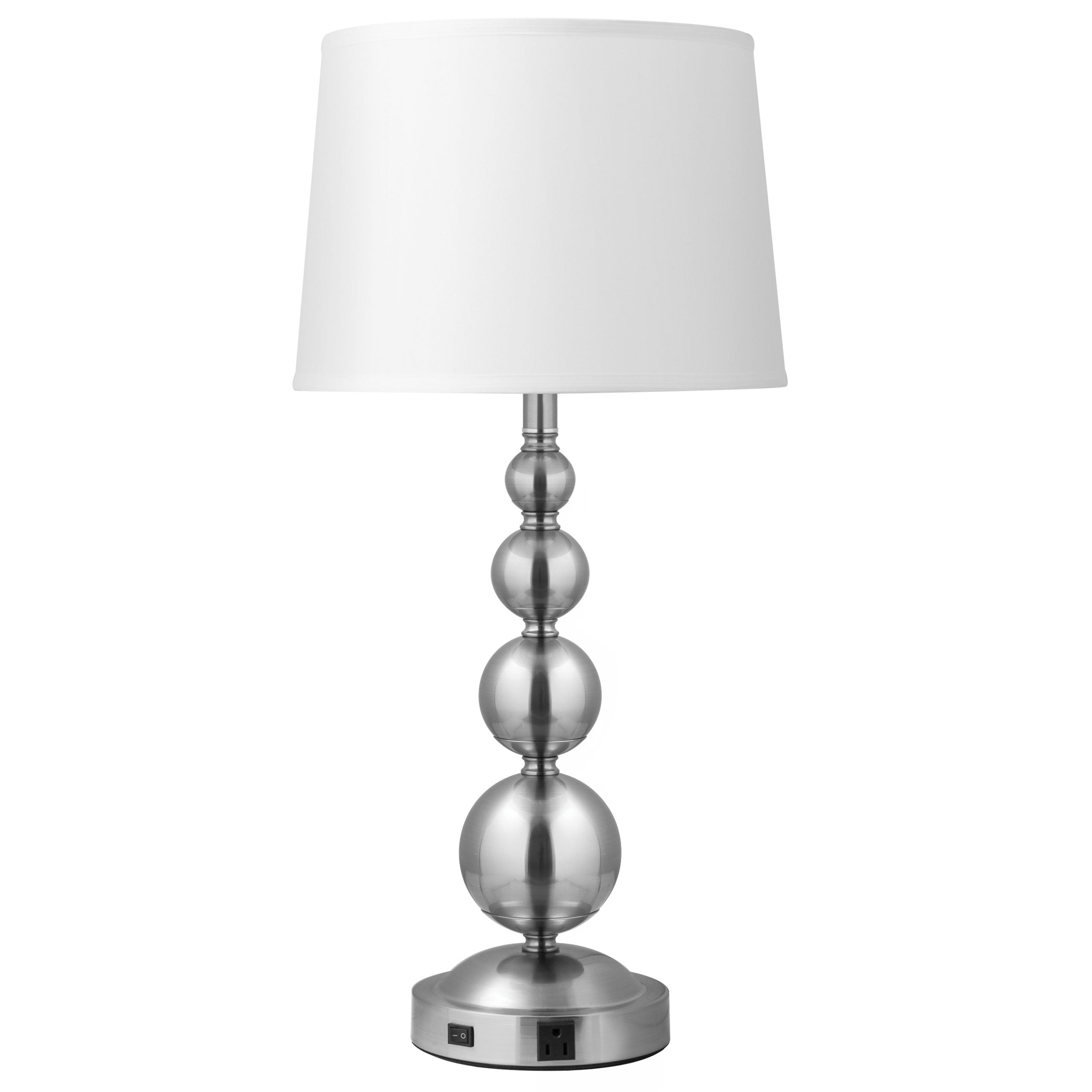 Lush Vert Single Table Lamp with 1 Outlet