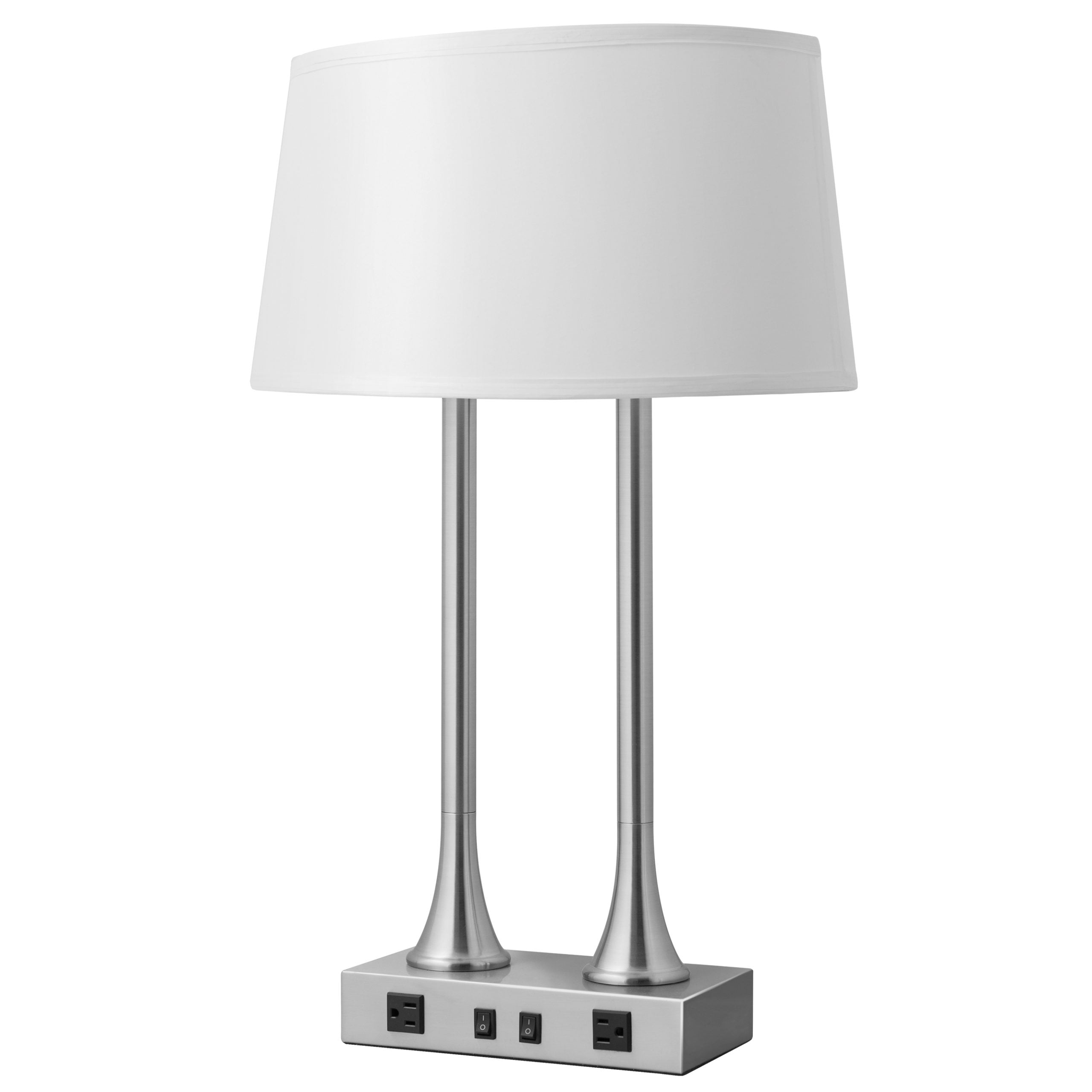 Lush Vert Desk Lamp with 2 Outlets