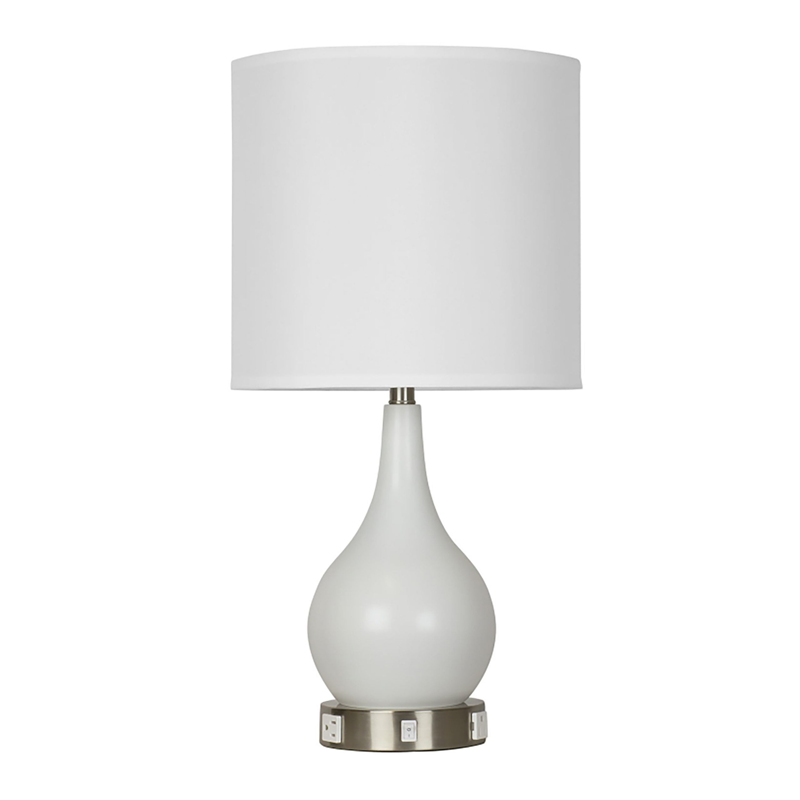 Fountain of Youth Single Table Lamp with 2 Outlets & 1 USB