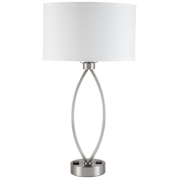 Sleep Twin Table Lamp with 2 Outlets