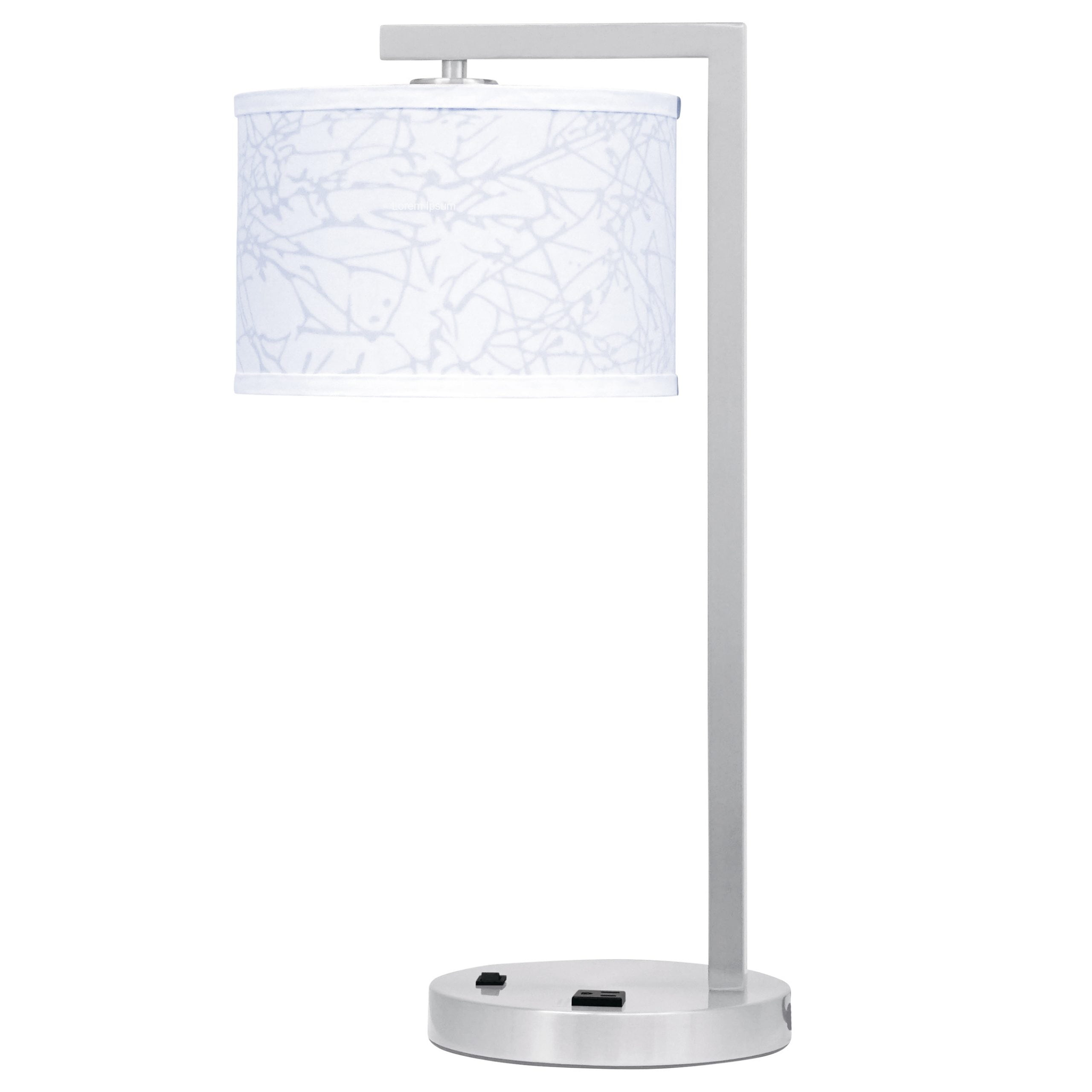 Mainstay Single Table Lamp with 1 Outlet