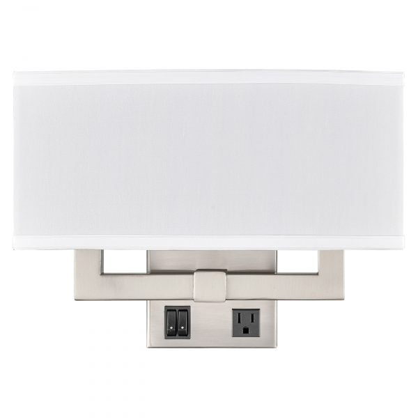 Gatsby Double Wall Lamp with 2 Outlets