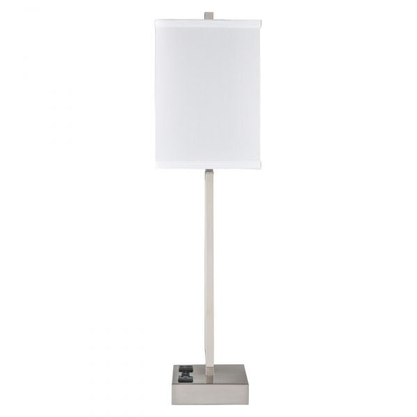 Gatsby Single Table Lamp with 2 Outlets