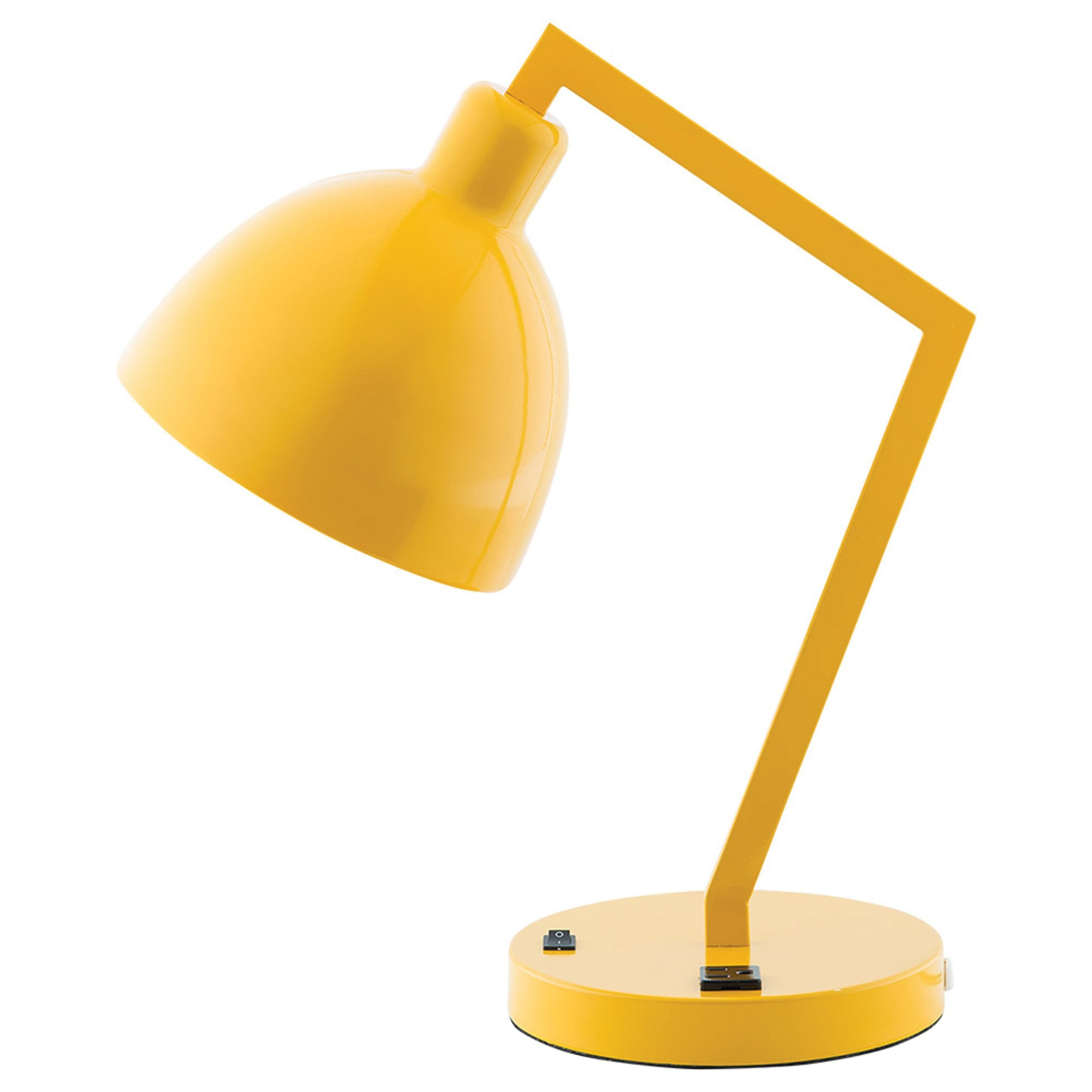Casual Desk Lamp with 1 Outlet