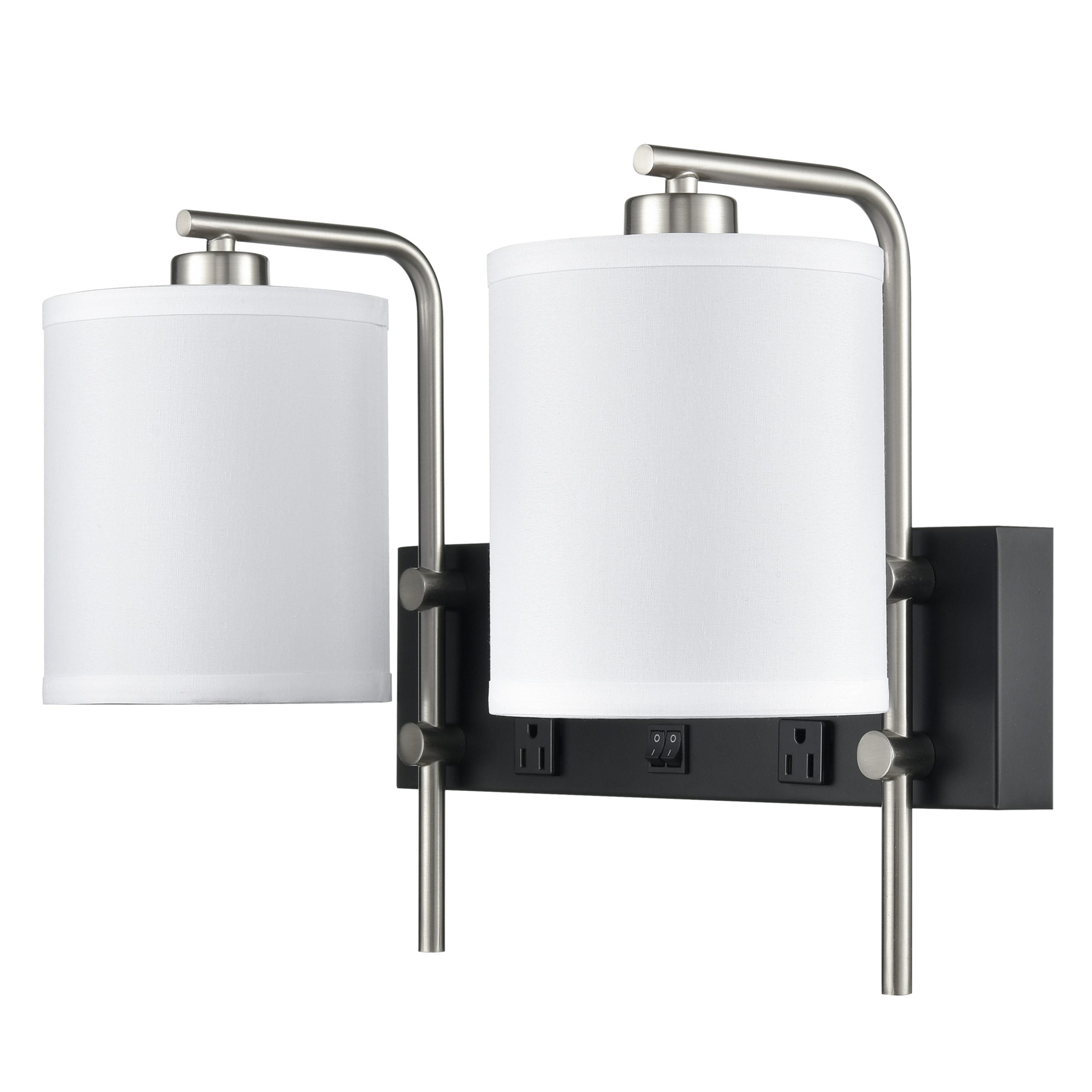 Valeria Double Wall Lamp with 2 Outlets