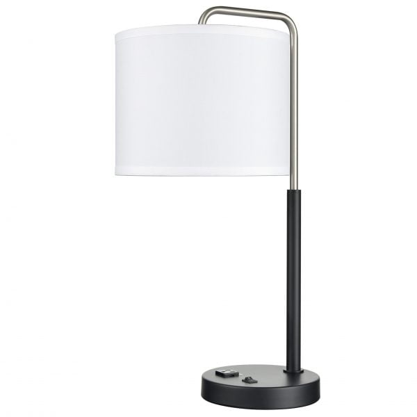 Valeria Single Table Lamp with 1 Outlet