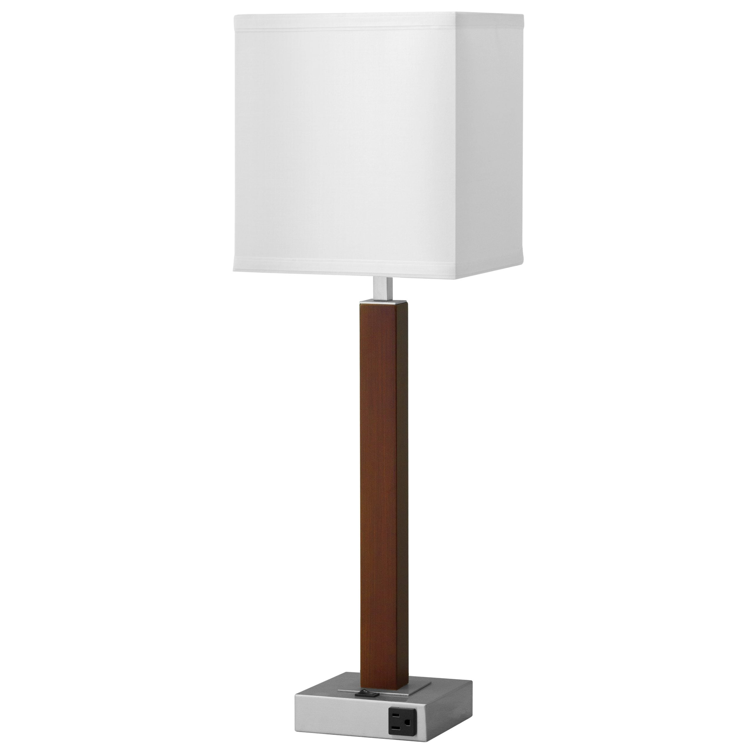 Calibri Single Table Lamp with 1 Outlet