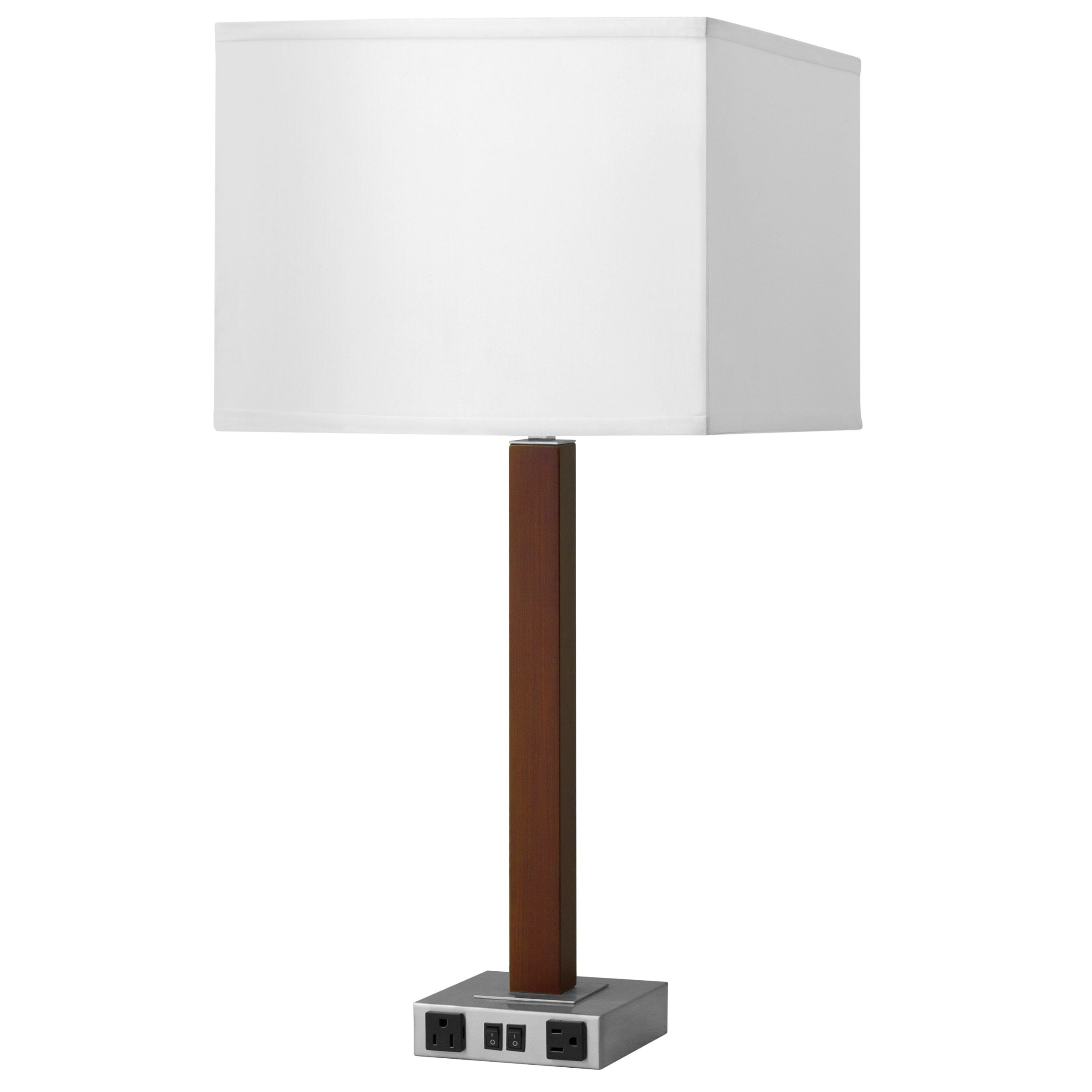 Calibri Twin Table Lamp with 2 Outlets