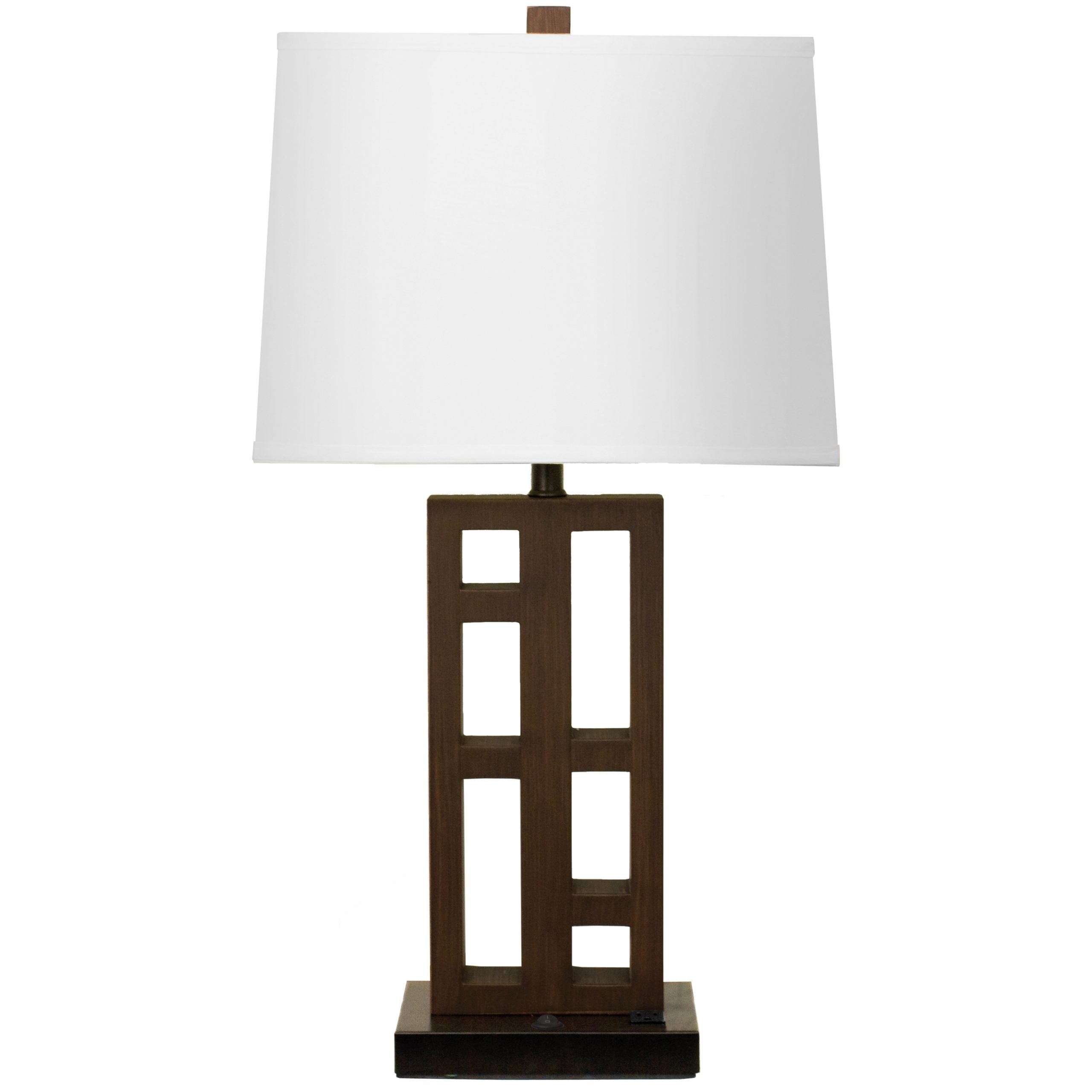 Urban Single Table Lamp with 1 Outlet