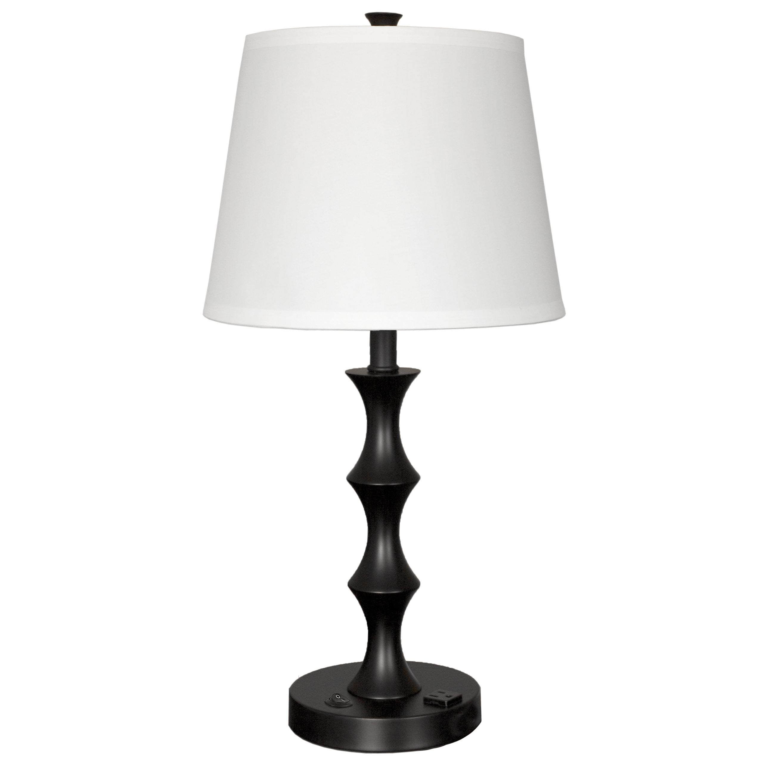 Urban End Table Lamp with 1 Outlet