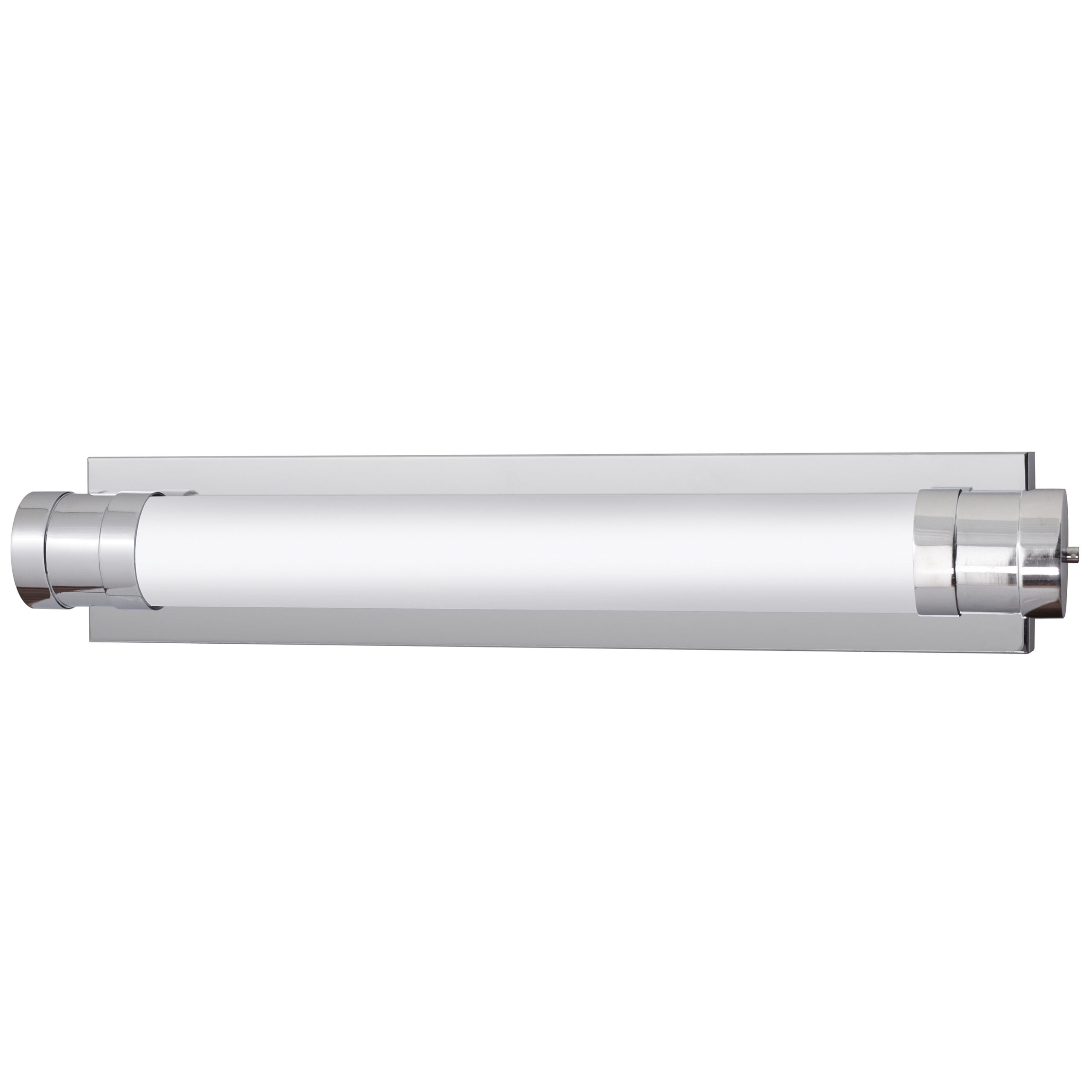 """38""""W Polished Chrome Vanity Light with Frosted Acrylic Shade"""