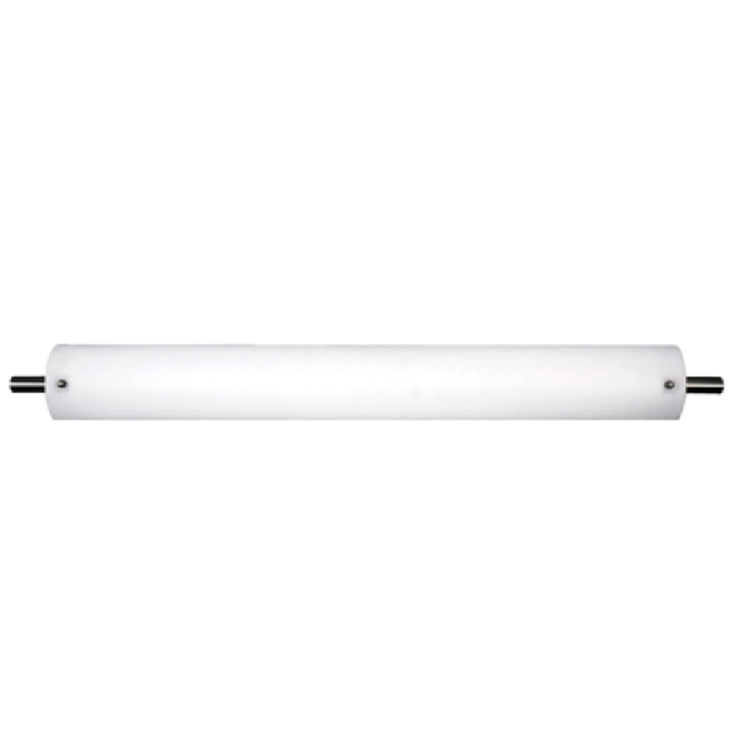 "30""W Satin Nickel Vanity Light with Frosted Acrylic Shade"