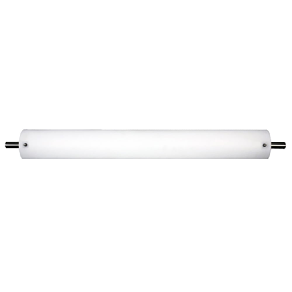 """54""""W Satin Nickel Vanity Light with Frosted Acrylic Shade"""