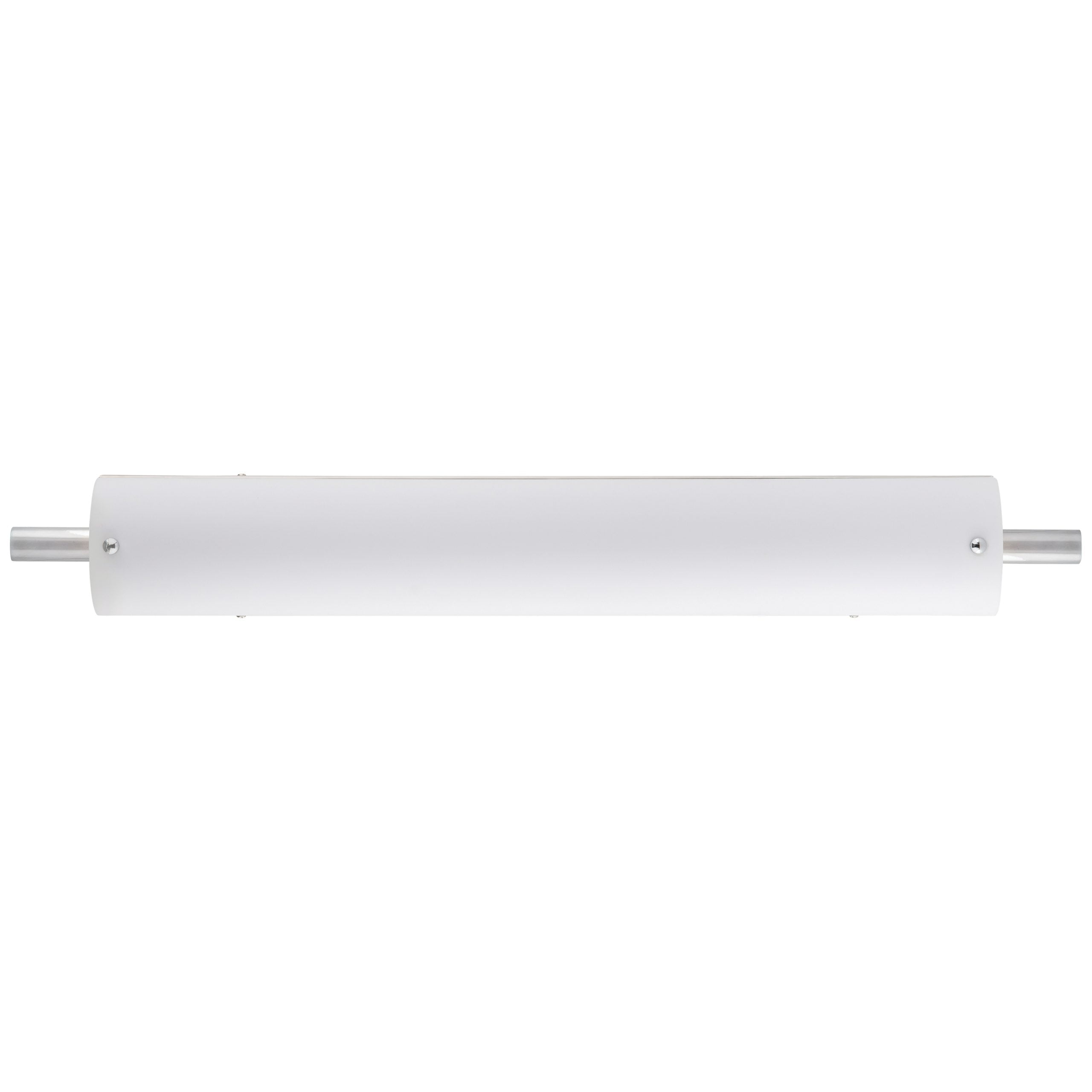 """30""""W Polished Chrome Vanity Light with Frosted Acrylic Shade & Integrated LED"""