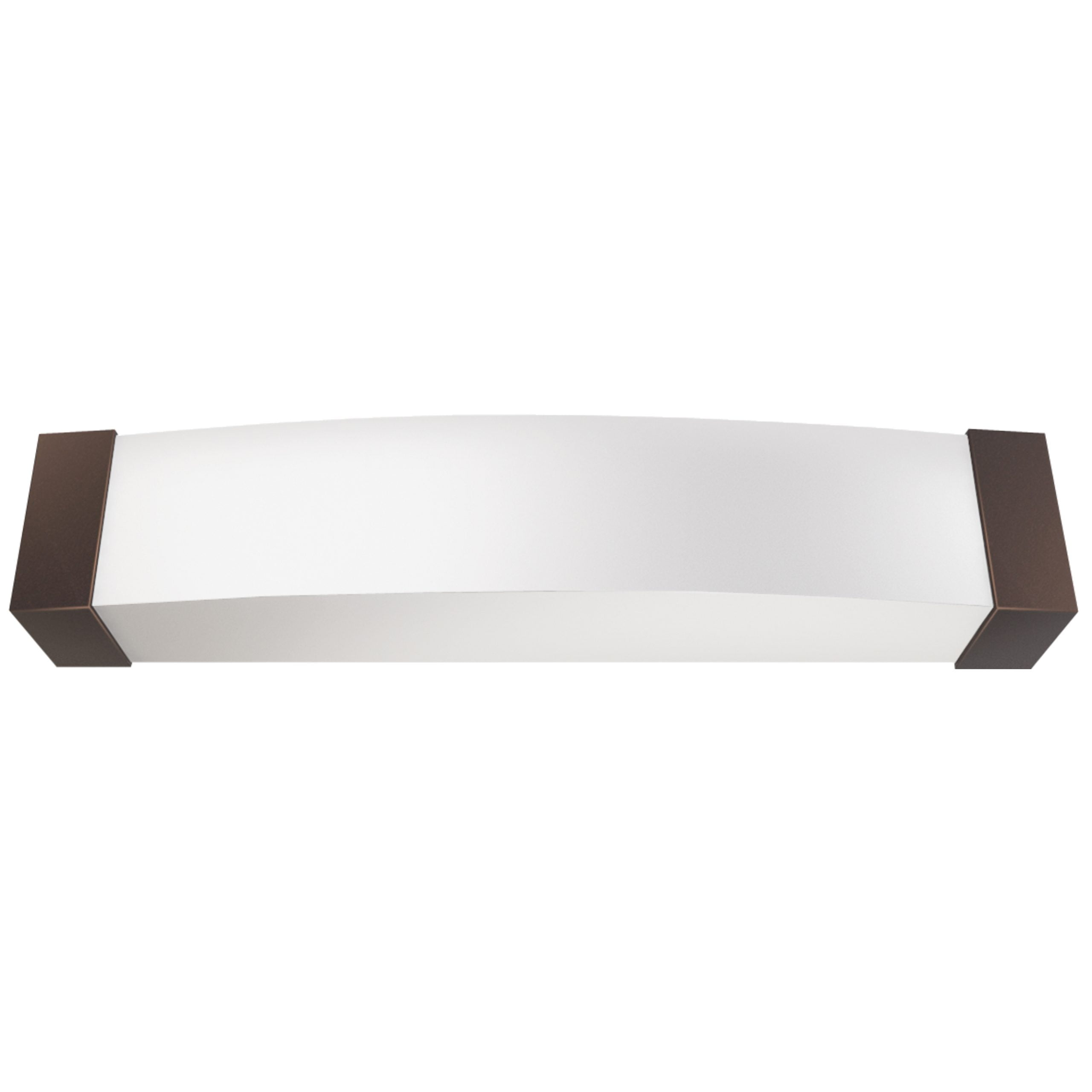 "25""W Dark Bronze Vanity Light with Frosted Acrylic Shade & Integrated LED"