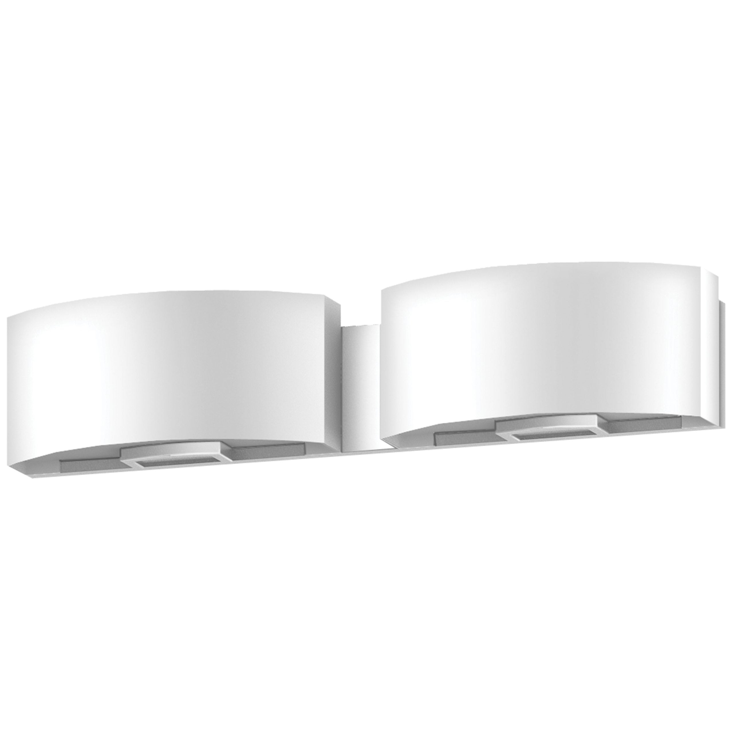"""24""""W Satin Nickel Vanity Light with Frosted Acrylic Shade"""