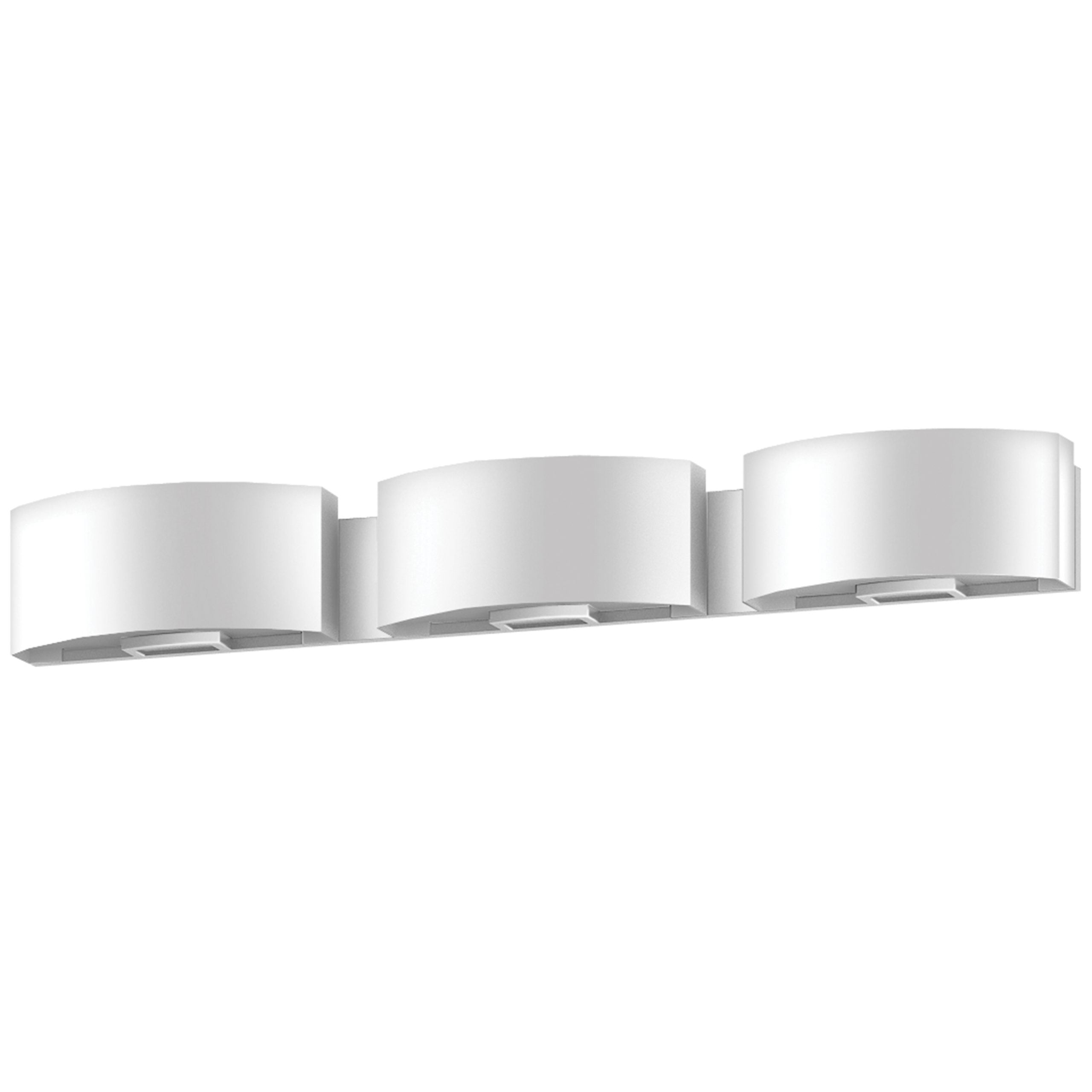 """37""""W Satin Nickel Vanity Light with Frosted Acrylic Shade"""