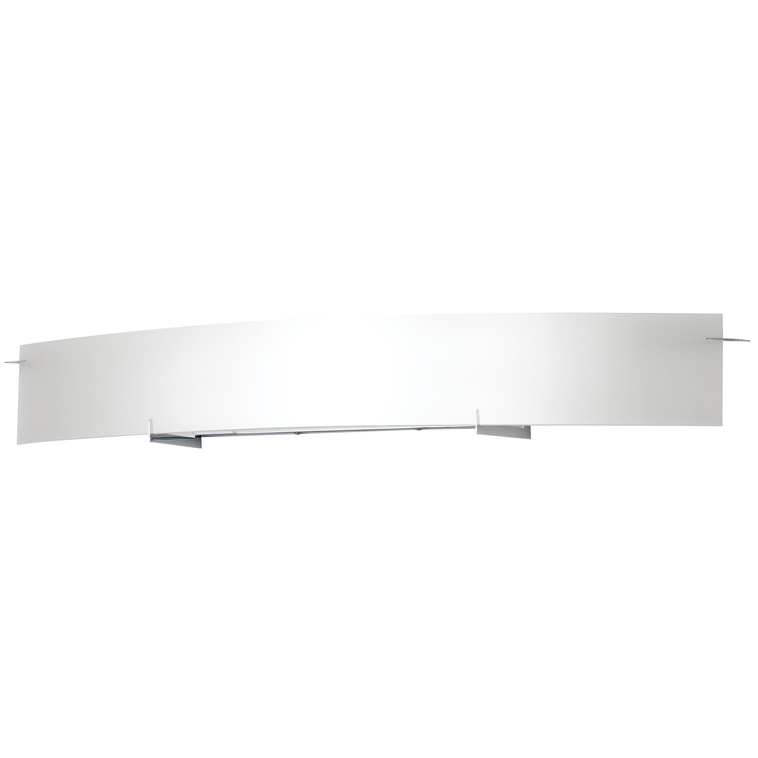 "48""W Polished Chrome Vanity Light with Frosted Glass Shade"