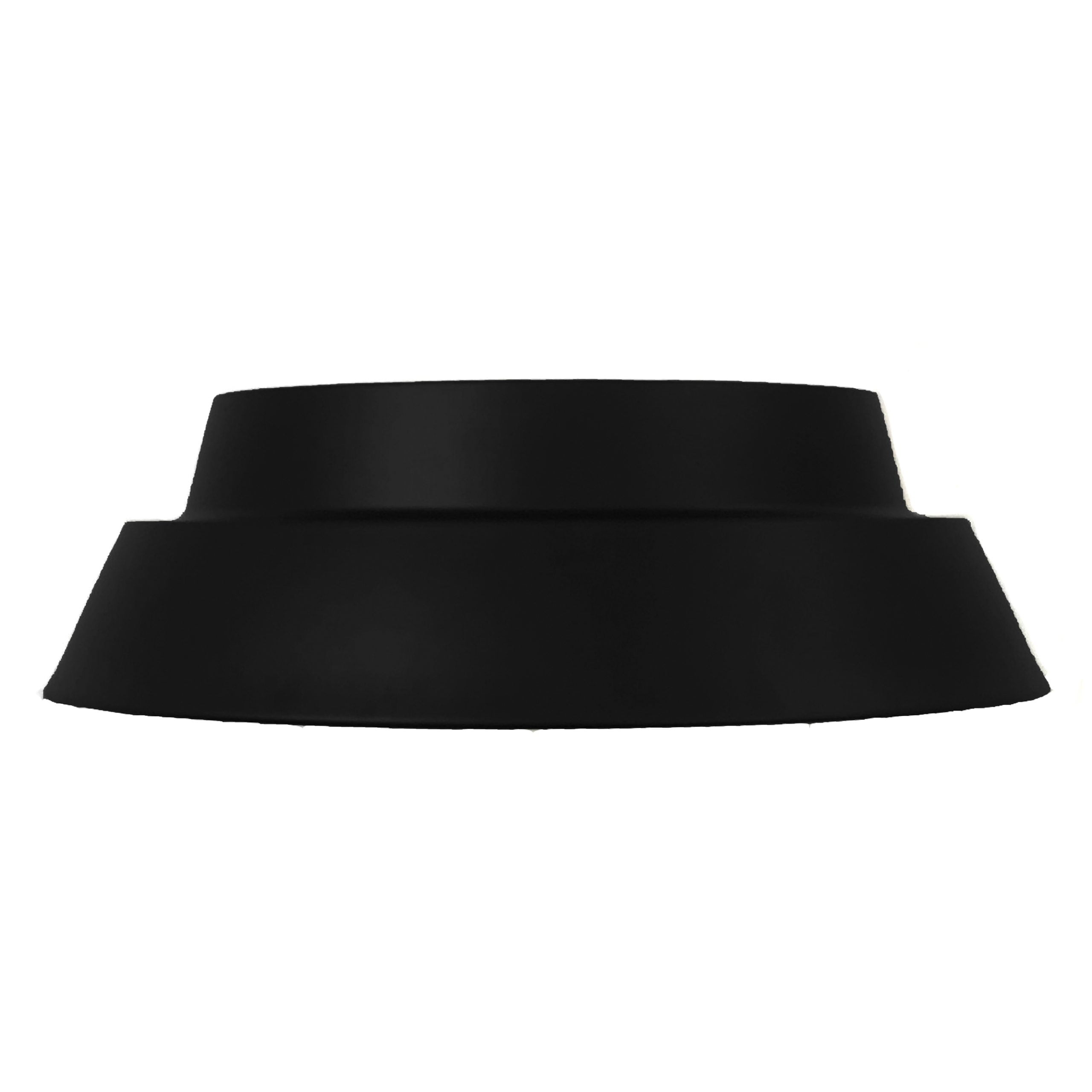 "17""W Matte Black Ceiling Light with Metal Shade"