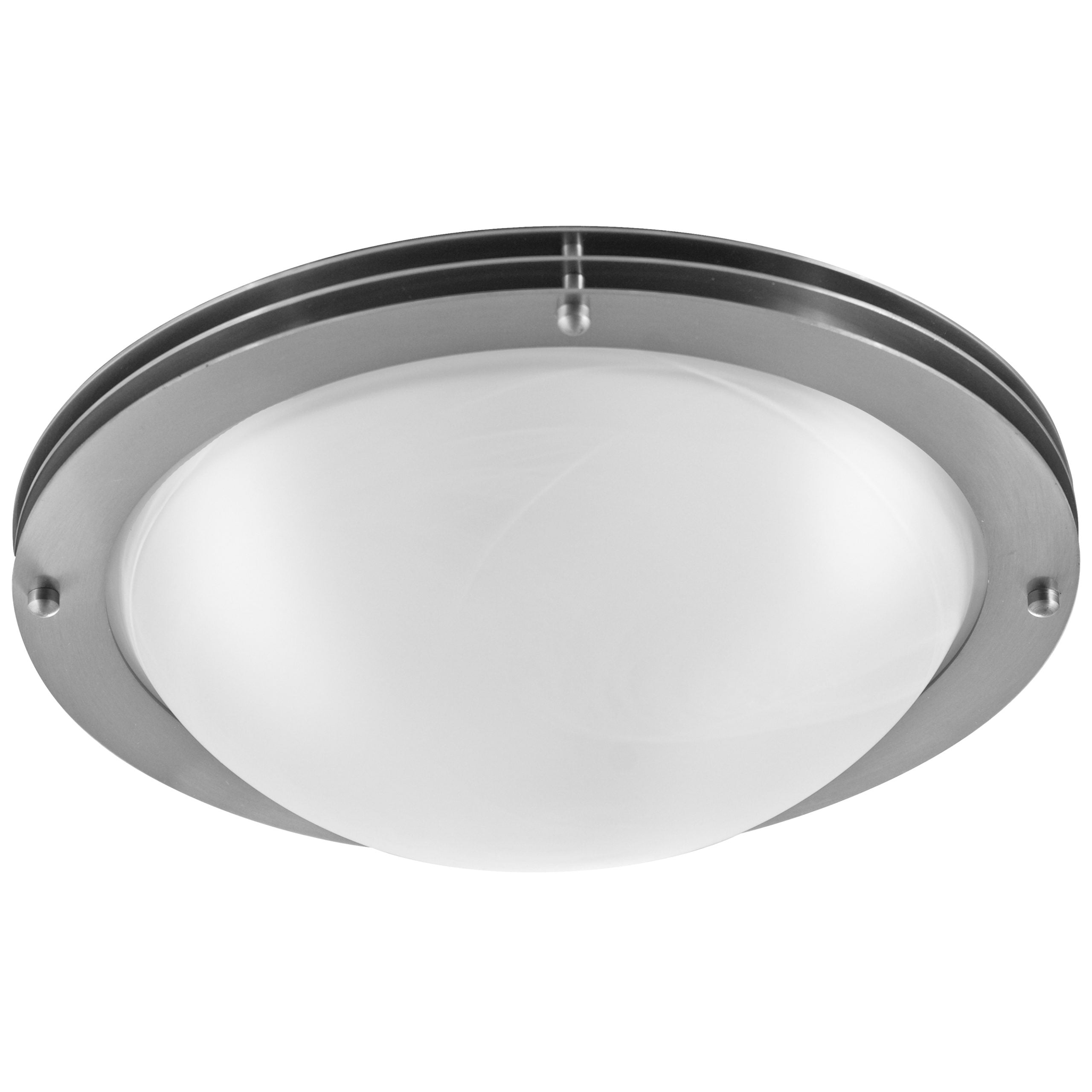 "16""W Brushed Nickel Ceiling Light with Frosted Glass Shade"