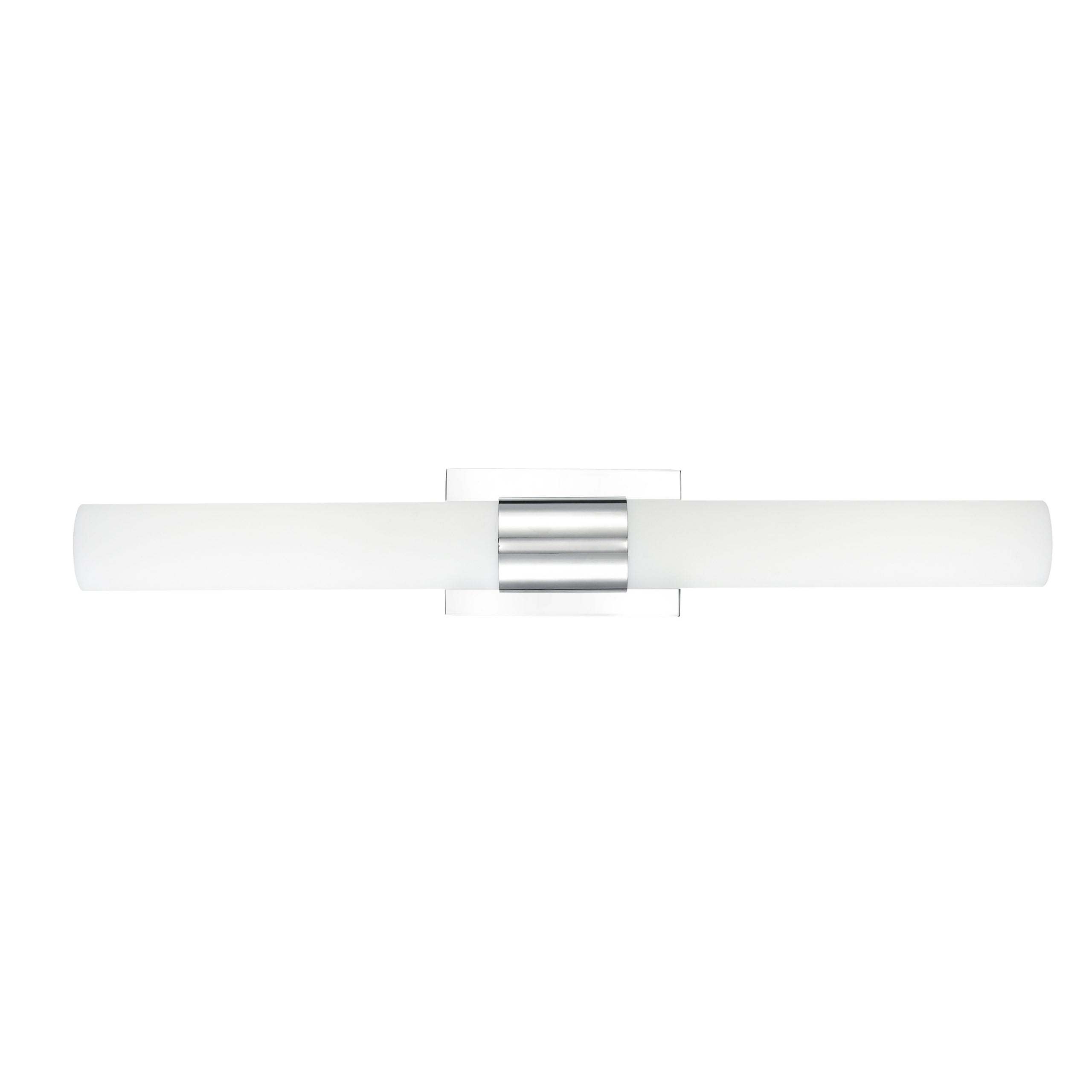 """30""""W Polished Chrome Vanity Light with Frosted Glass Shade & Integrated LED"""