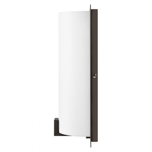 """12""""H Dark Bronze Wall Sconce with Frosted Acrylic Shade"""