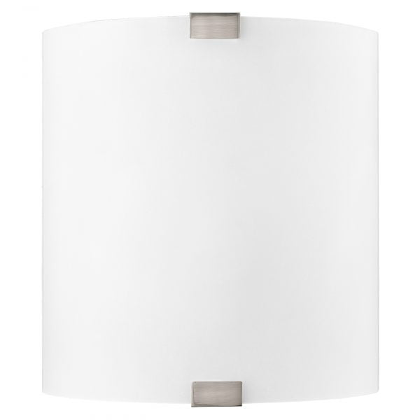 """12""""H Brushed Nickel Wall Sconce with Frosted Glass Shade"""