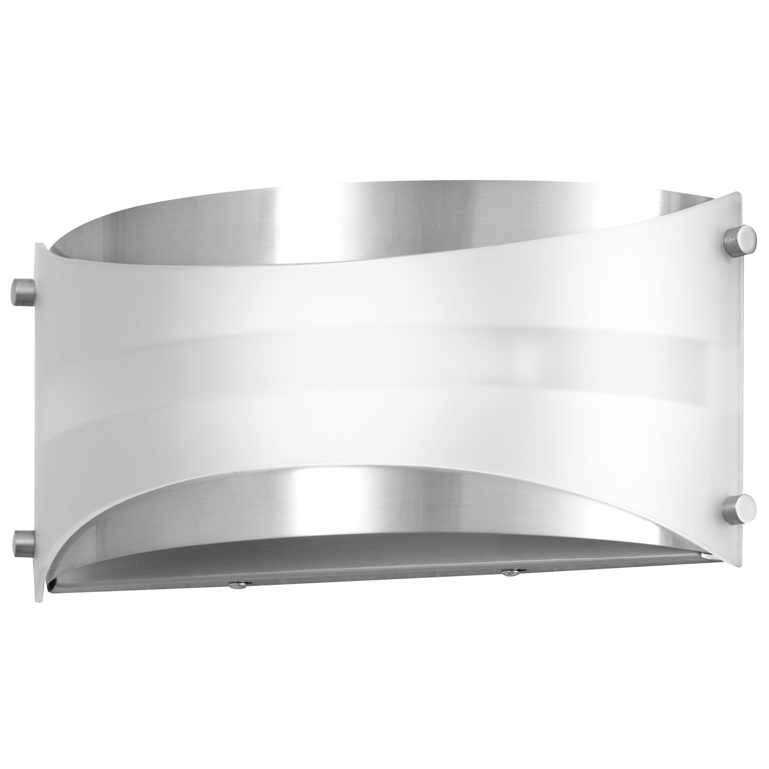 "7""H Brushed Nickel Wall Sconce with Frosted Glass Shade"