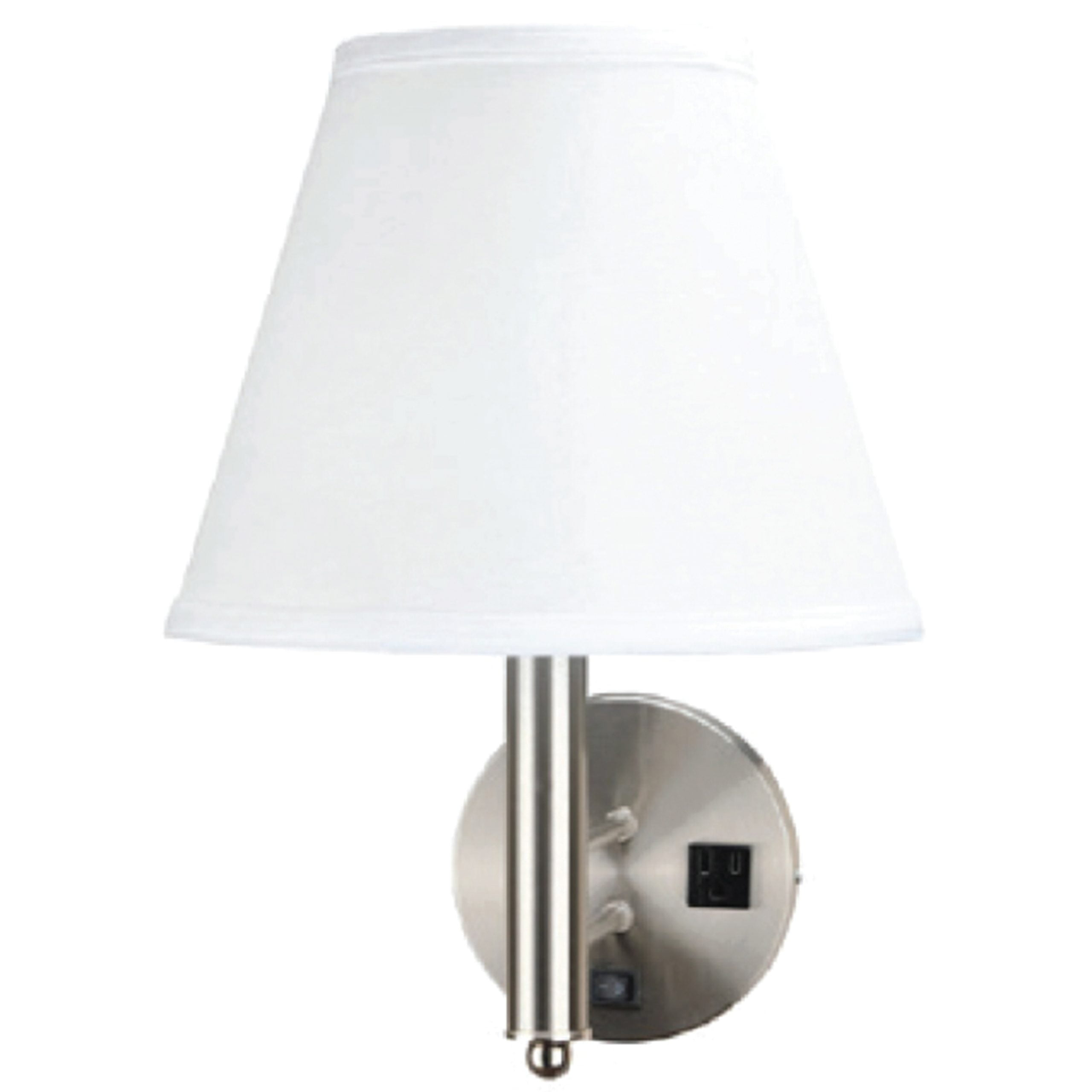 Single Wall Lamp with 1 Outlet
