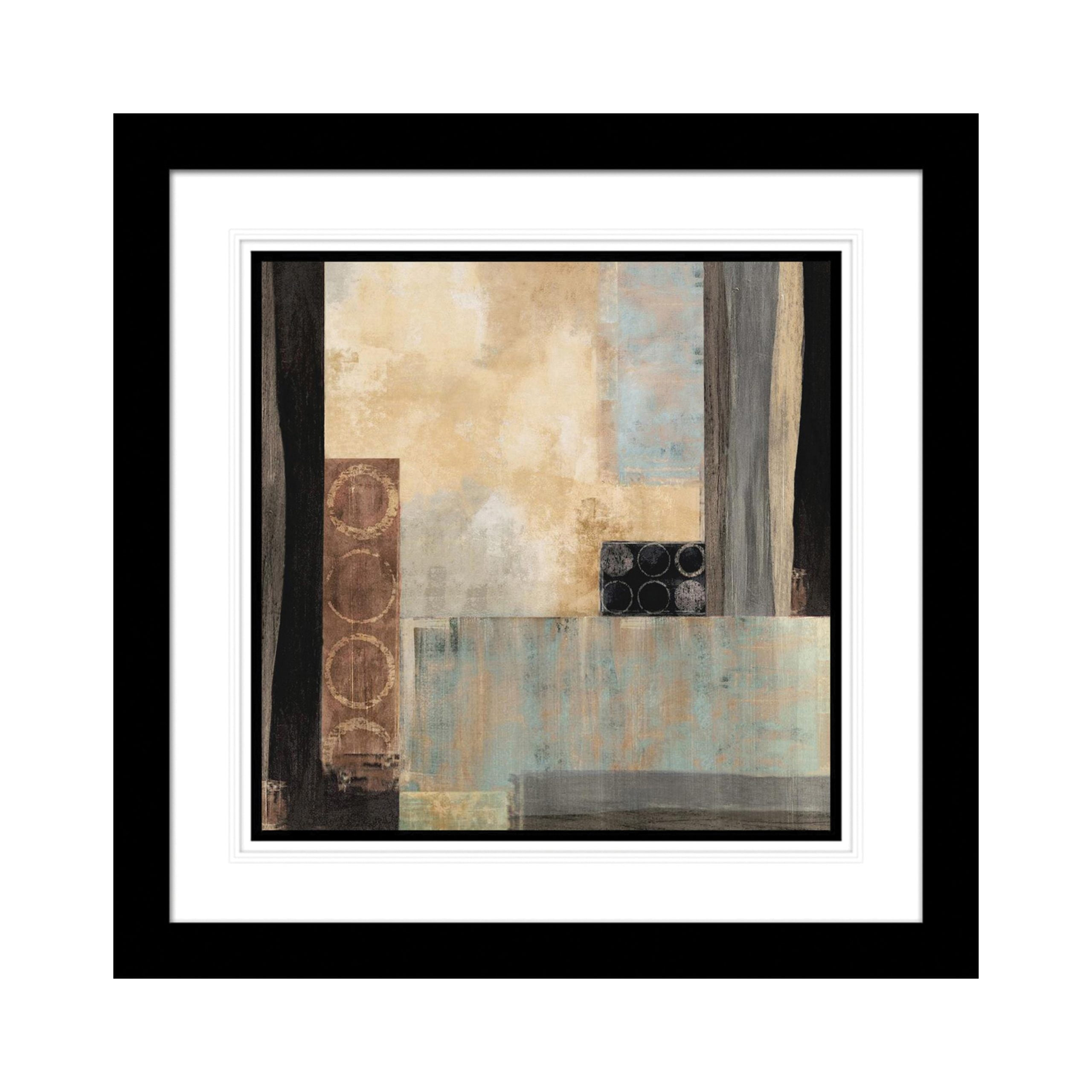 Abstract Cool Square Artwork with Fornari Black Frame