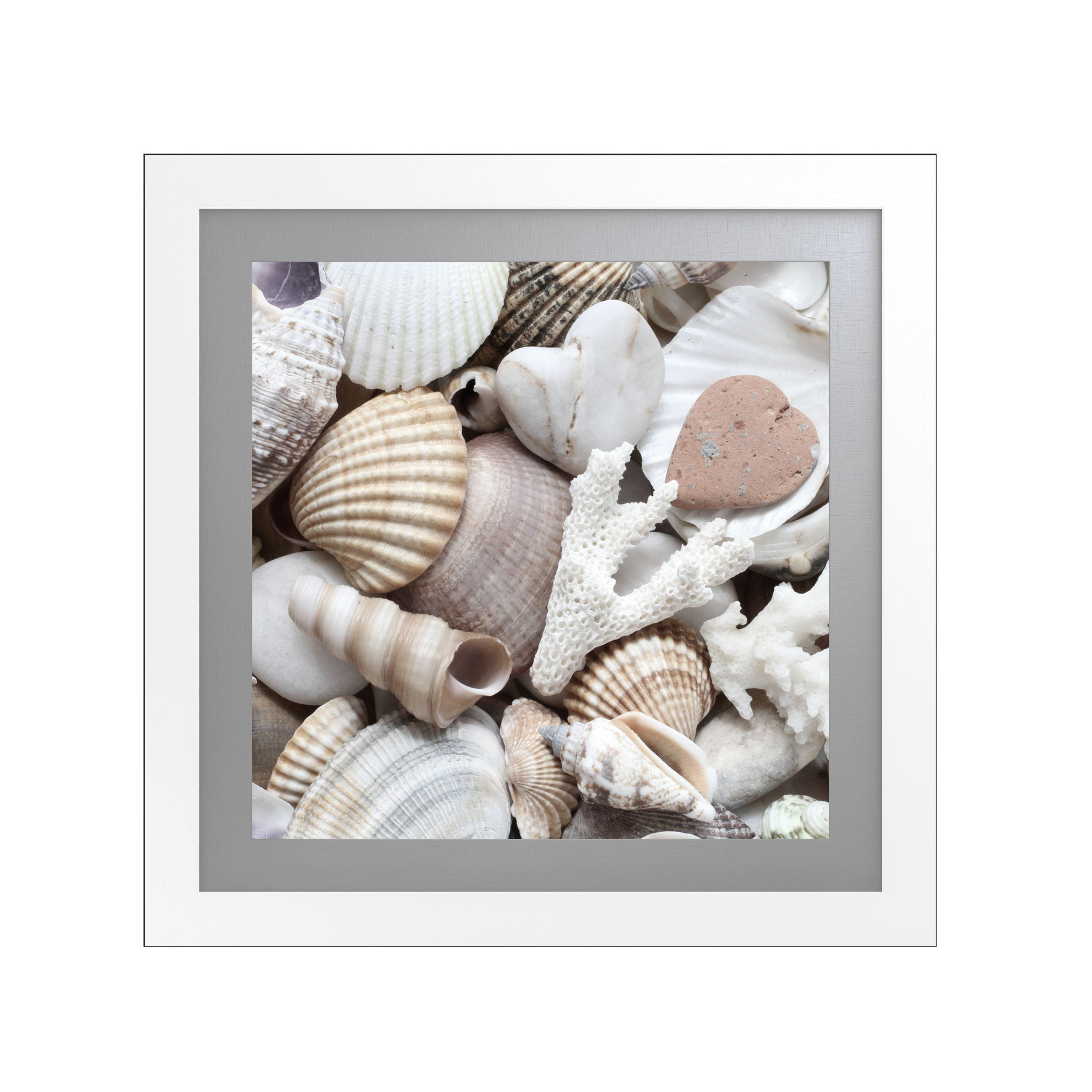 Tranquility Artwork with Fornari White Frame