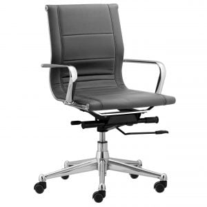 Florence Mid Back Task Chair with Soft Arms - Brack