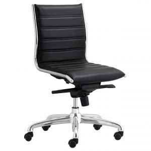Palermo Armless Task Chair - Black