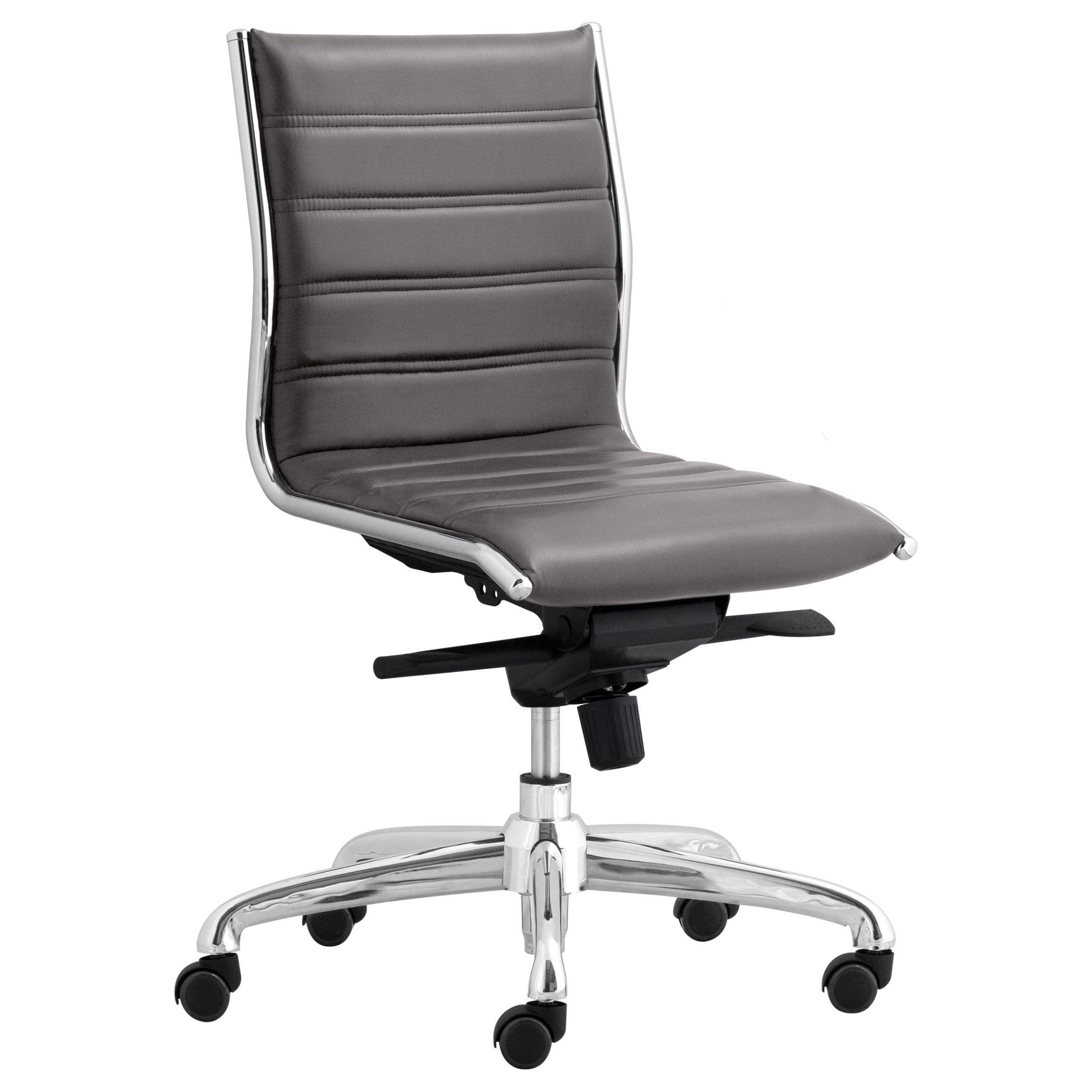 Palermo Gray Armless Task Chair - Gray