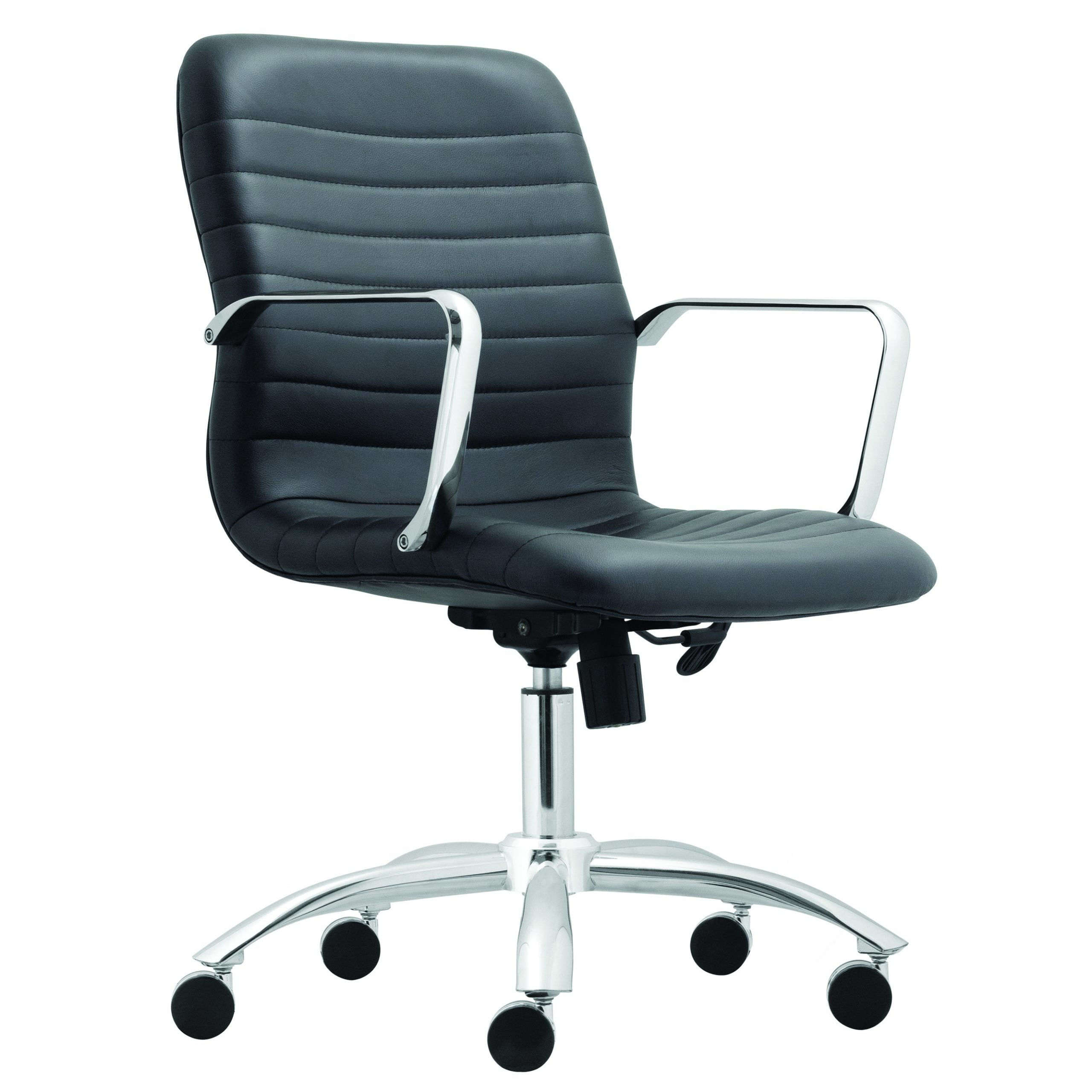 Savona Task Chair with Metal Arms - Black