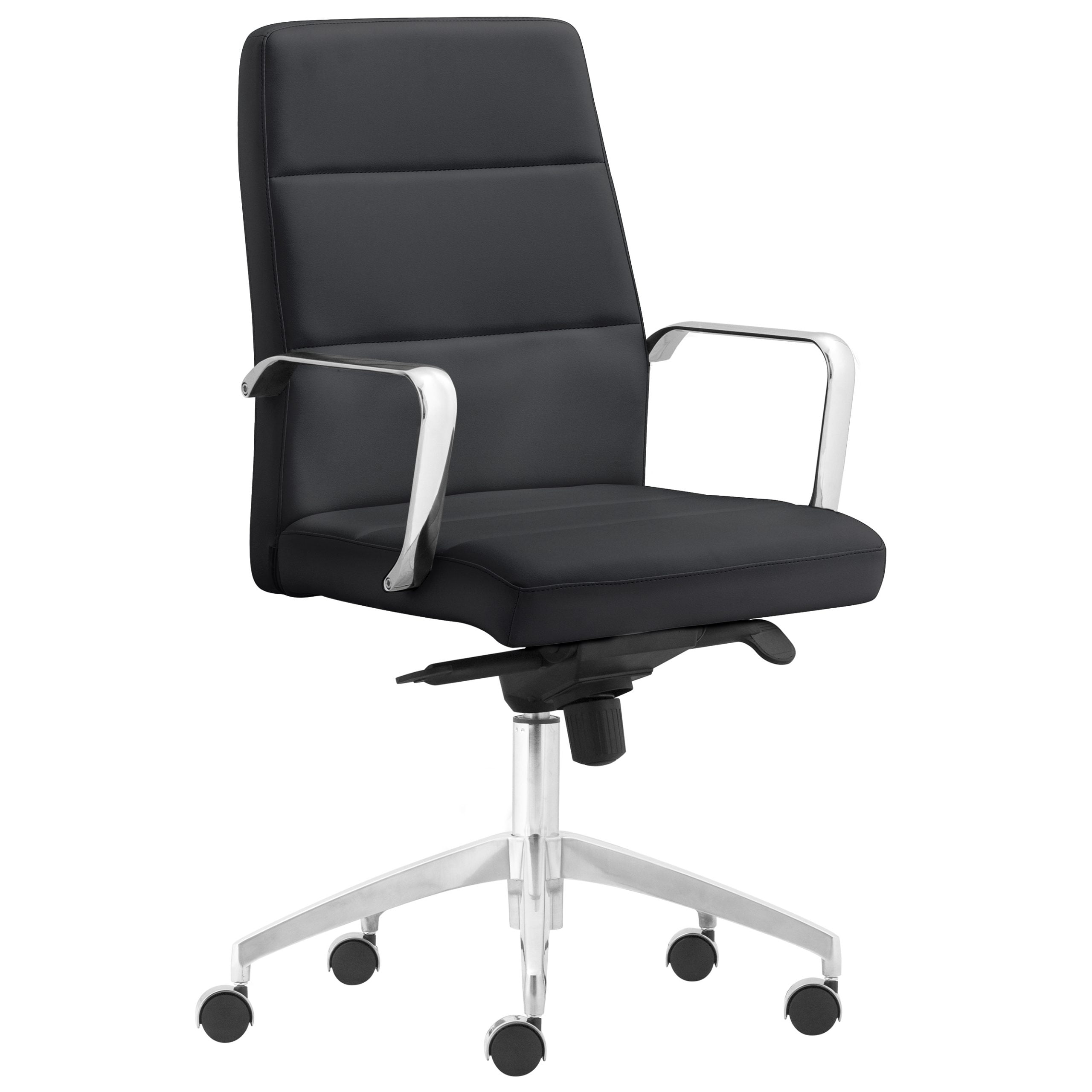 Pavia Task Chair with Metal Arms - Black