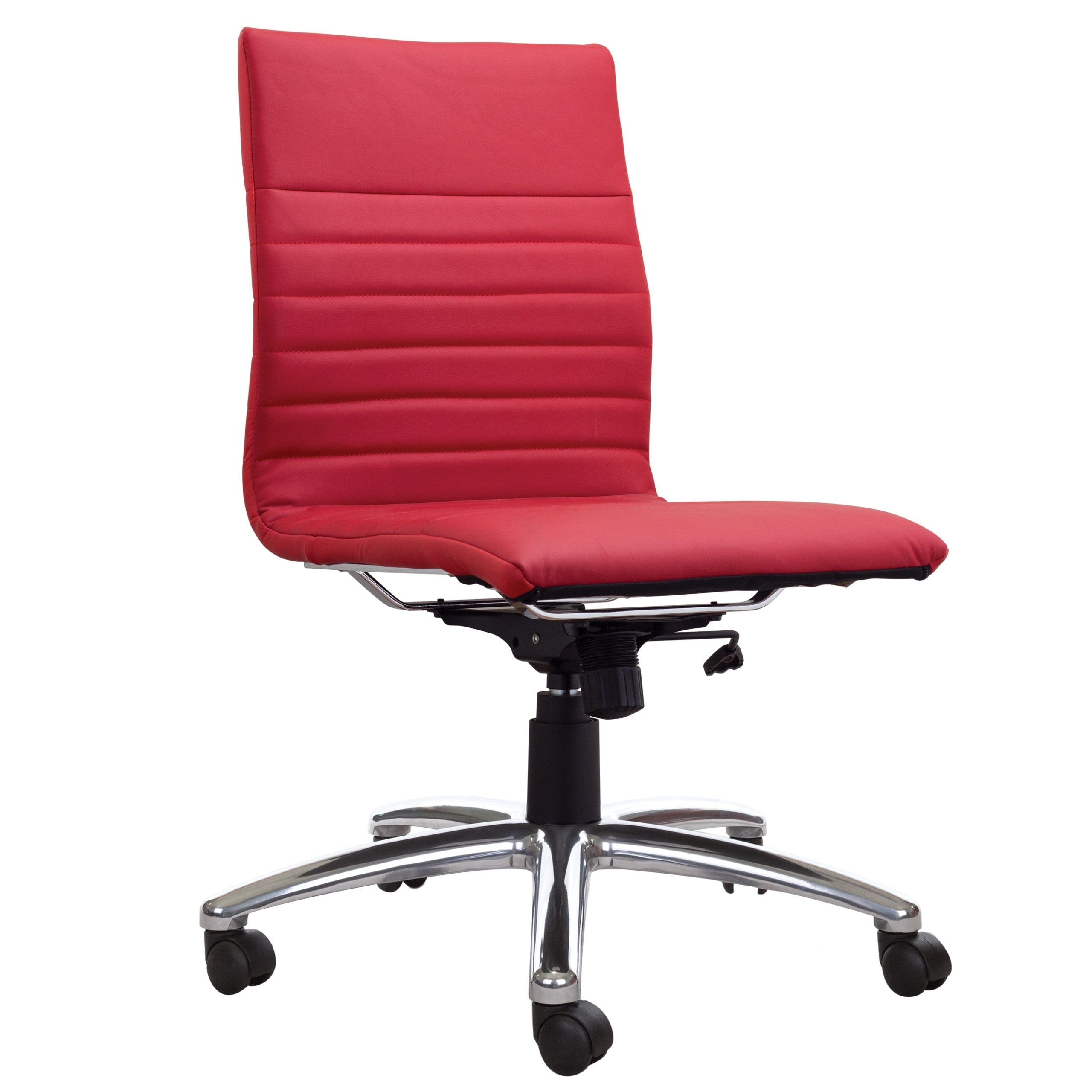 Modena Armless Task Chair - Red