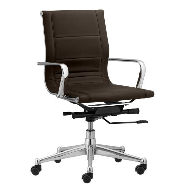 Florence Mid Back Task Chair with Metal Arms - Gray
