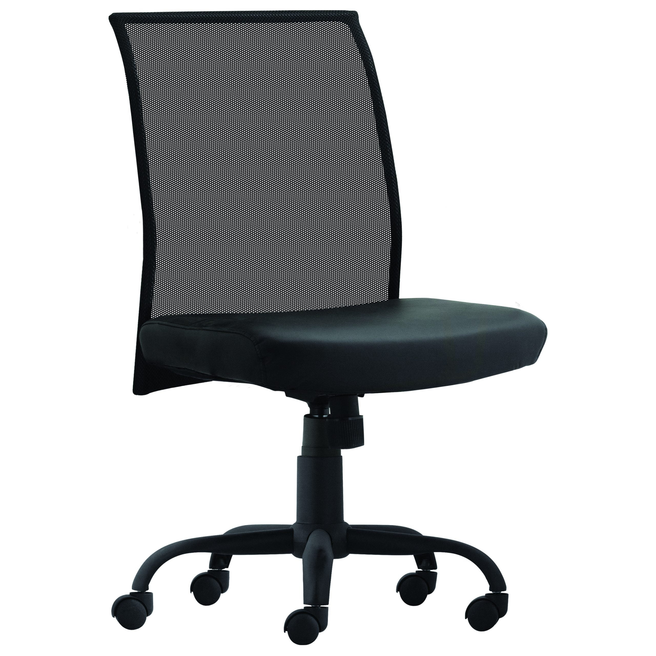 Bari Armless Task Chair - Black