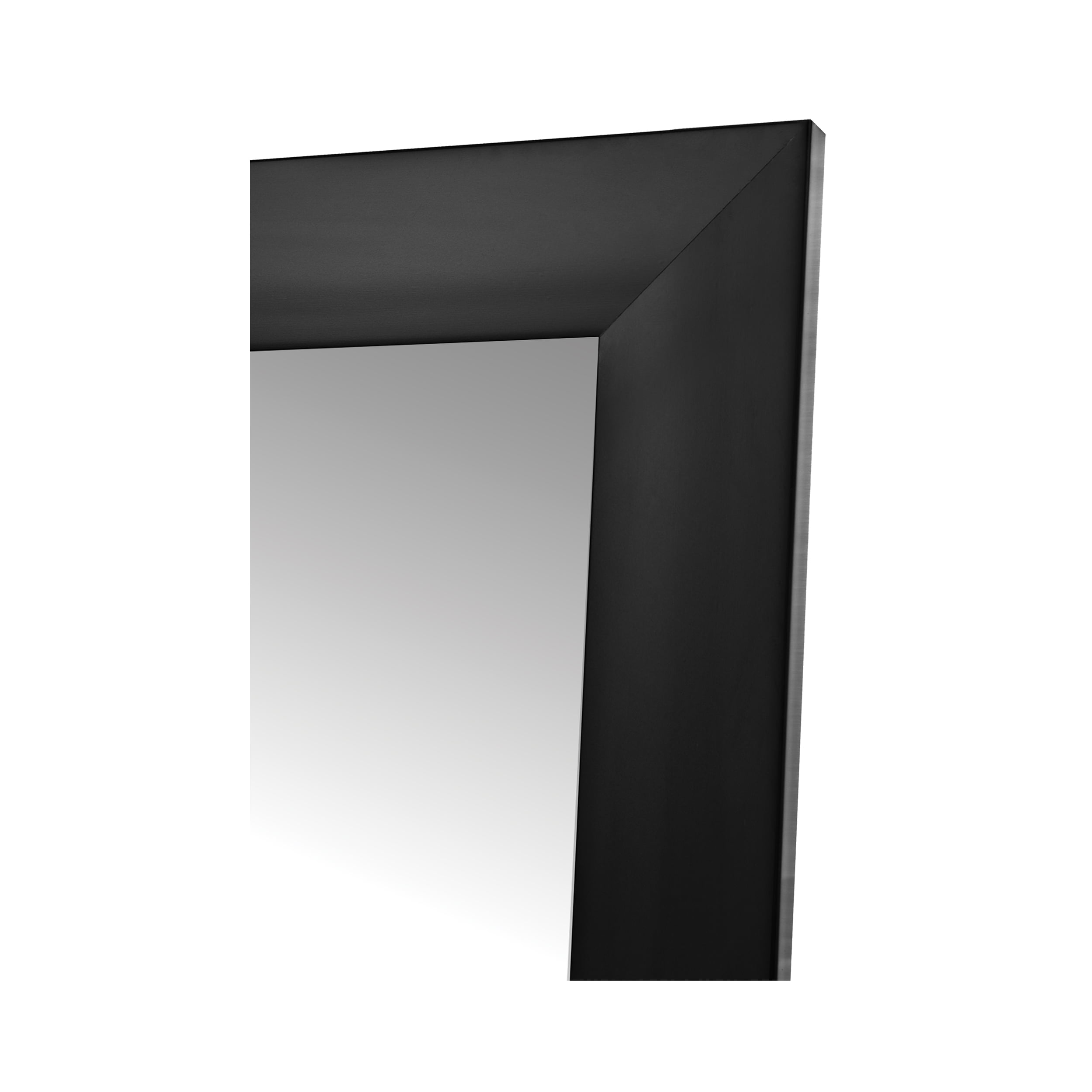 "Fornari Black Non-Beveled Full Length (20"" x 60"")"