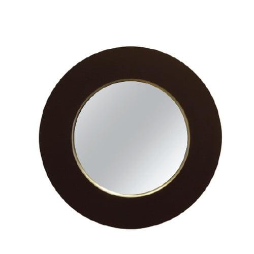 """32"""" Porto Black Round Mirror"""